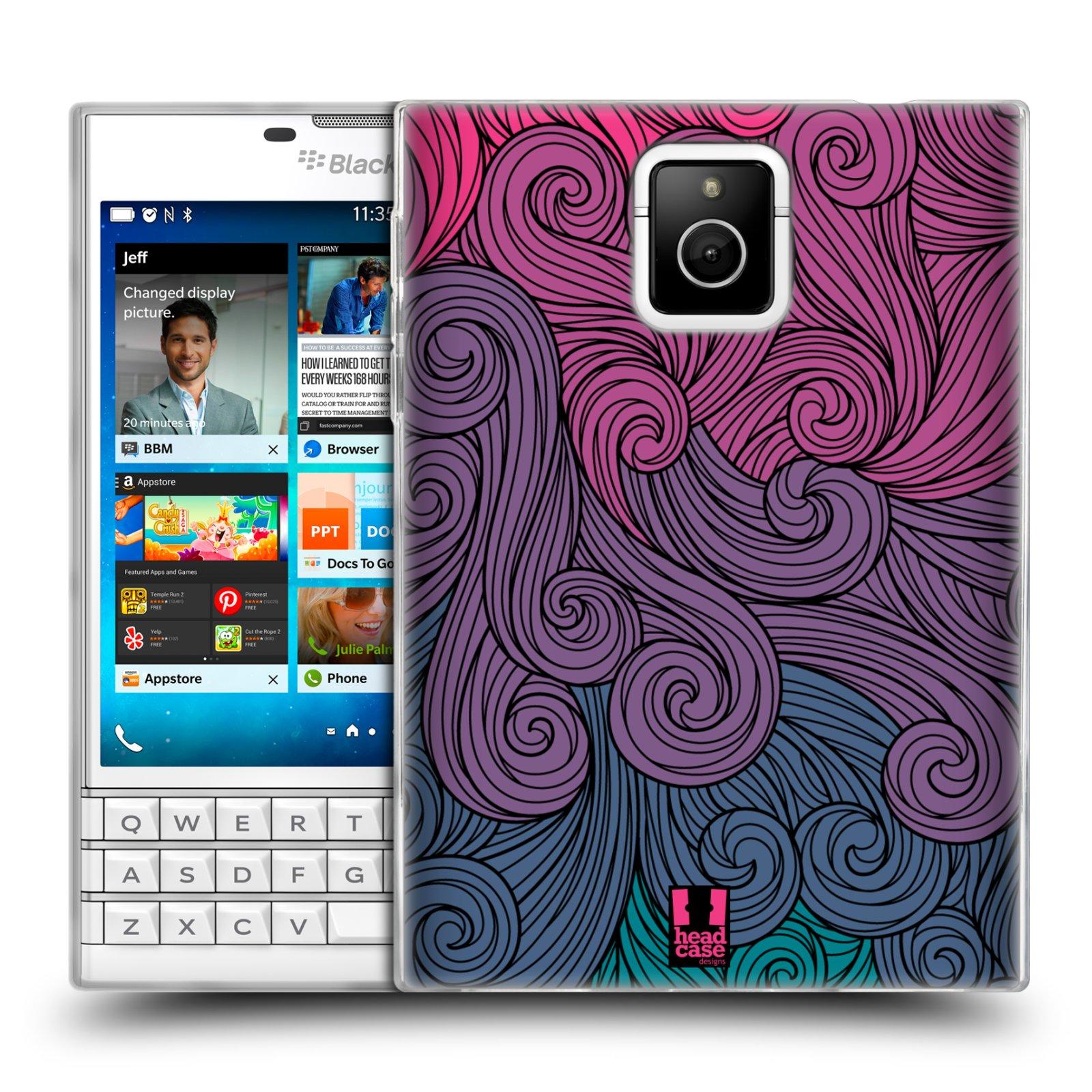 Silikonové pouzdro na mobil Blackberry PASSPORT HEAD CASE Swirls Hot Pink (Silikonový kryt či obal na mobilní telefon Blackberry PASSPORT)
