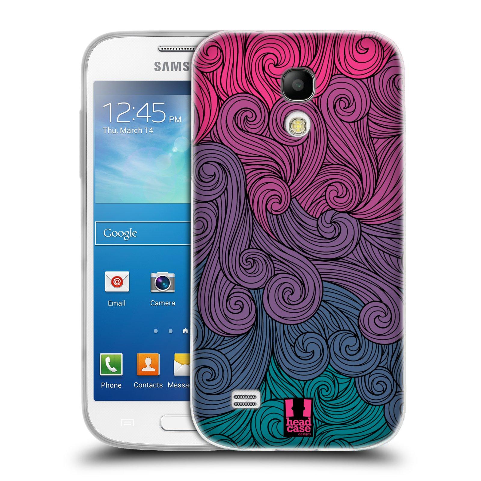 Silikonové pouzdro na mobil Samsung Galaxy S4 Mini HEAD CASE Swirls Hot Pink (Silikonový kryt či obal na mobilní telefon Samsung Galaxy S4 Mini GT-i9195 / i9190)