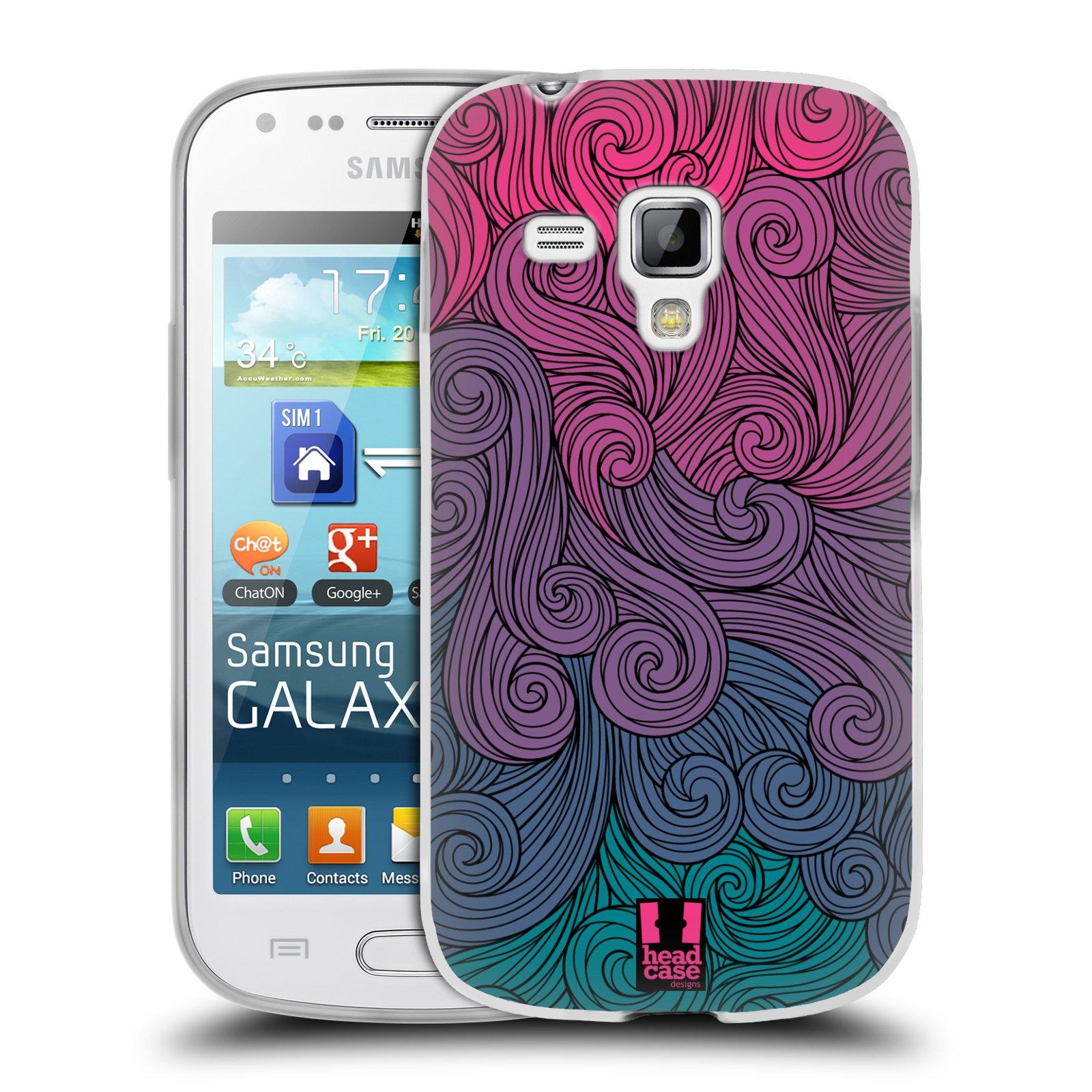 Silikonové pouzdro na mobil Samsung Galaxy Trend Plus HEAD CASE Swirls Hot Pink (Silikonový kryt či obal na mobilní telefon Samsung Galaxy Trend Plus GT-S7580)