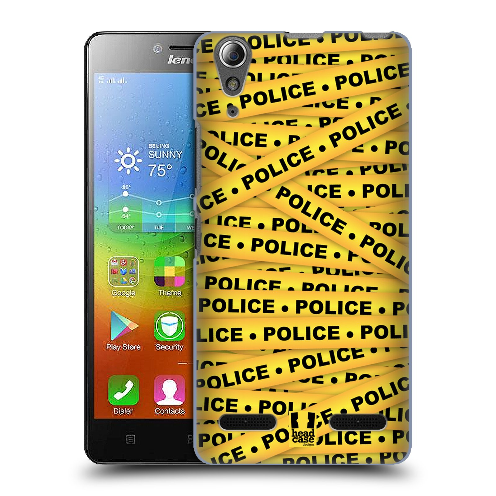 Plastové pouzdro na mobil Lenovo A6000 HEAD CASE POLICEJNÍ PÁSKA (Kryt či obal na mobilní telefon Lenovo A6000 / A6000 Plus)