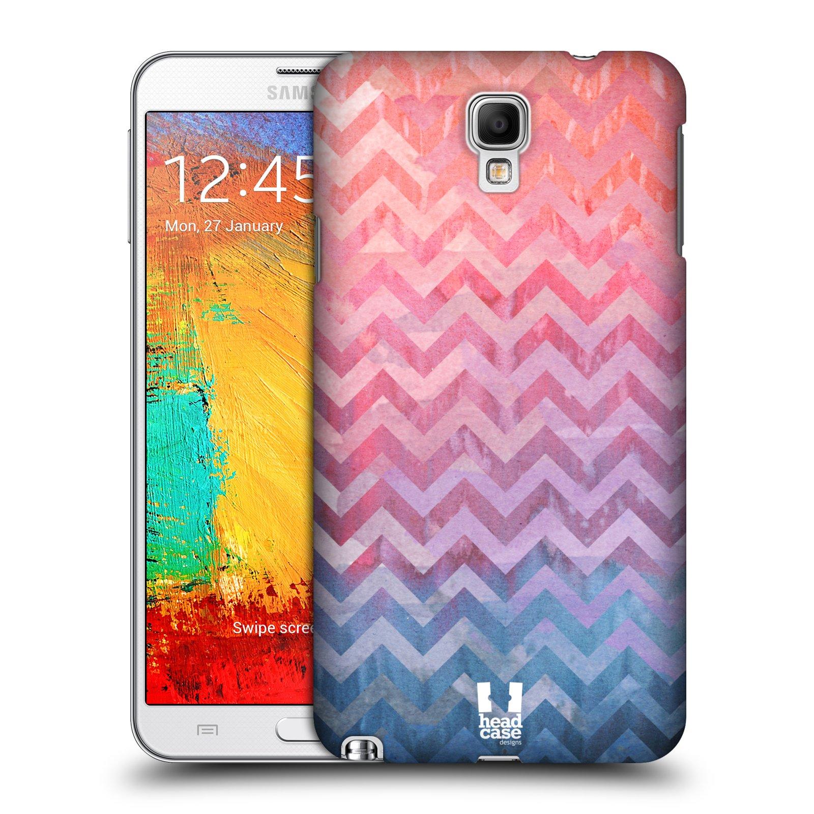 Plastové pouzdro na mobil Samsung Galaxy Note 3 Neo HEAD CASE Pink Chevron (Kryt či obal na mobilní telefon Samsung Galaxy Note 3 Neo SM-N7505)