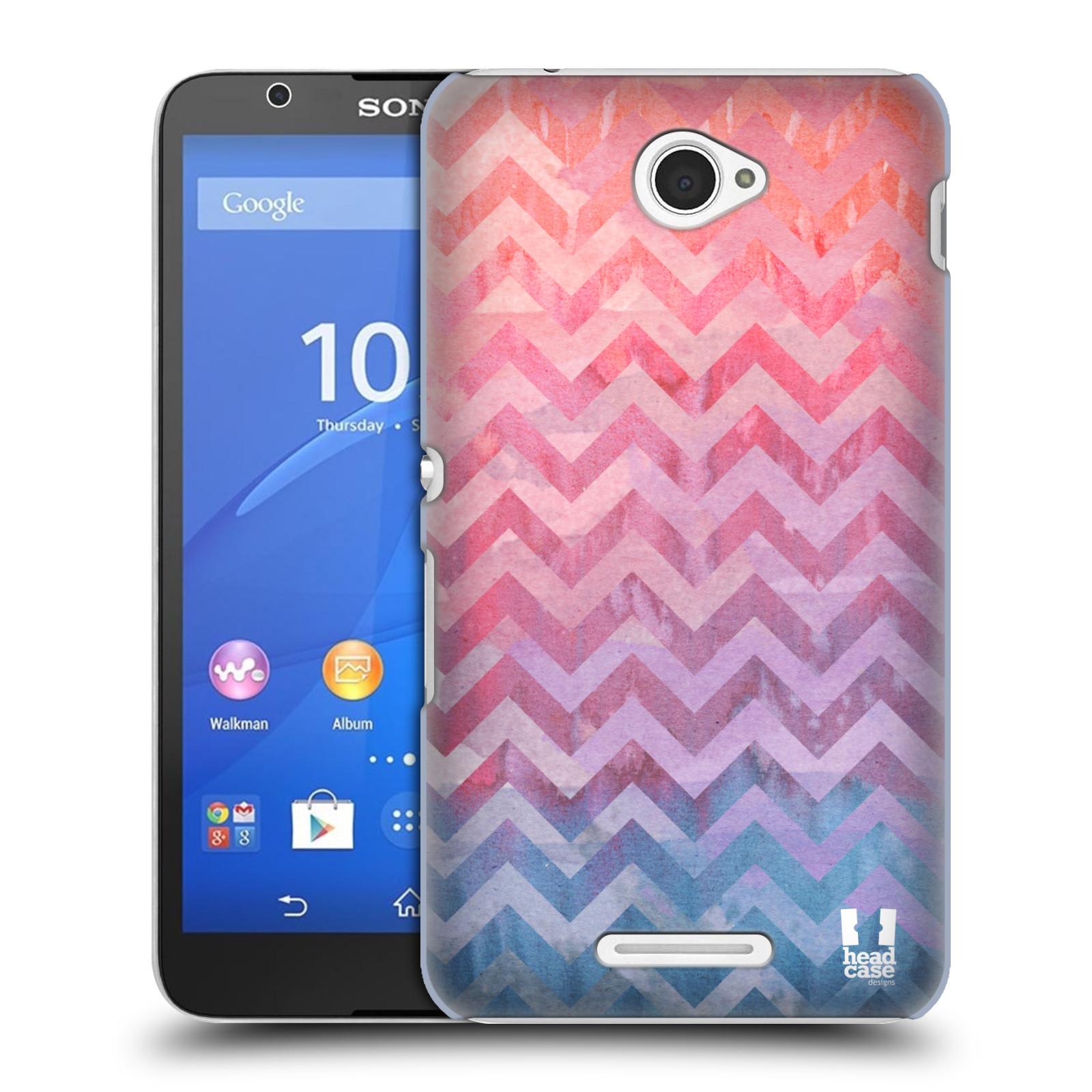 Plastové pouzdro na mobil Sony Xperia E4 E2105 HEAD CASE Pink Chevron (Kryt či obal na mobilní telefon Sony Xperia E4 a E4 Dual SIM)