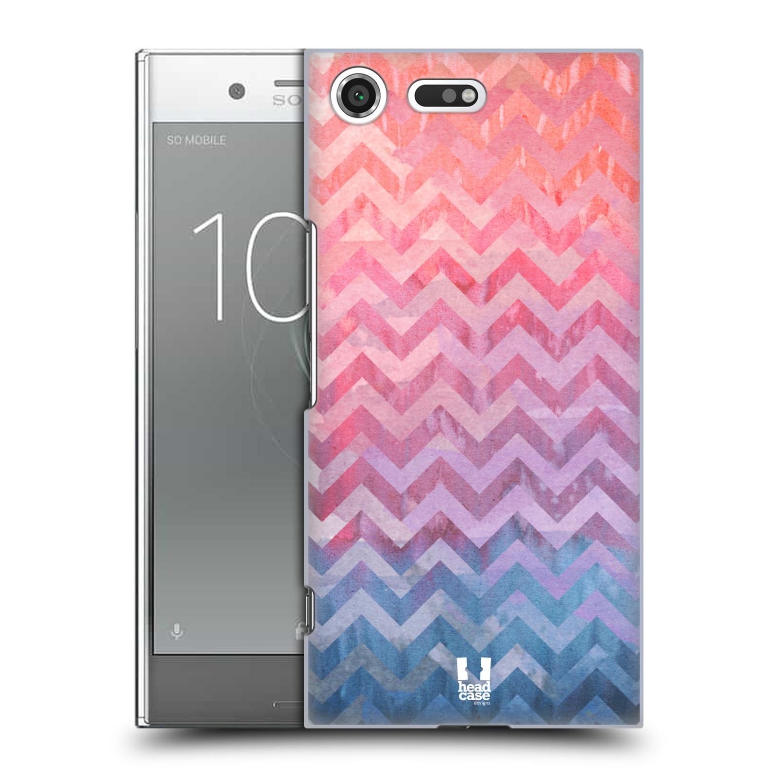 Plastové pouzdro na mobil Sony Xperia XZ Premium Head Case - Pink Chevron (Plastový kryt či obal na mobilní telefon Sony Xperia XZ Premium G8142)
