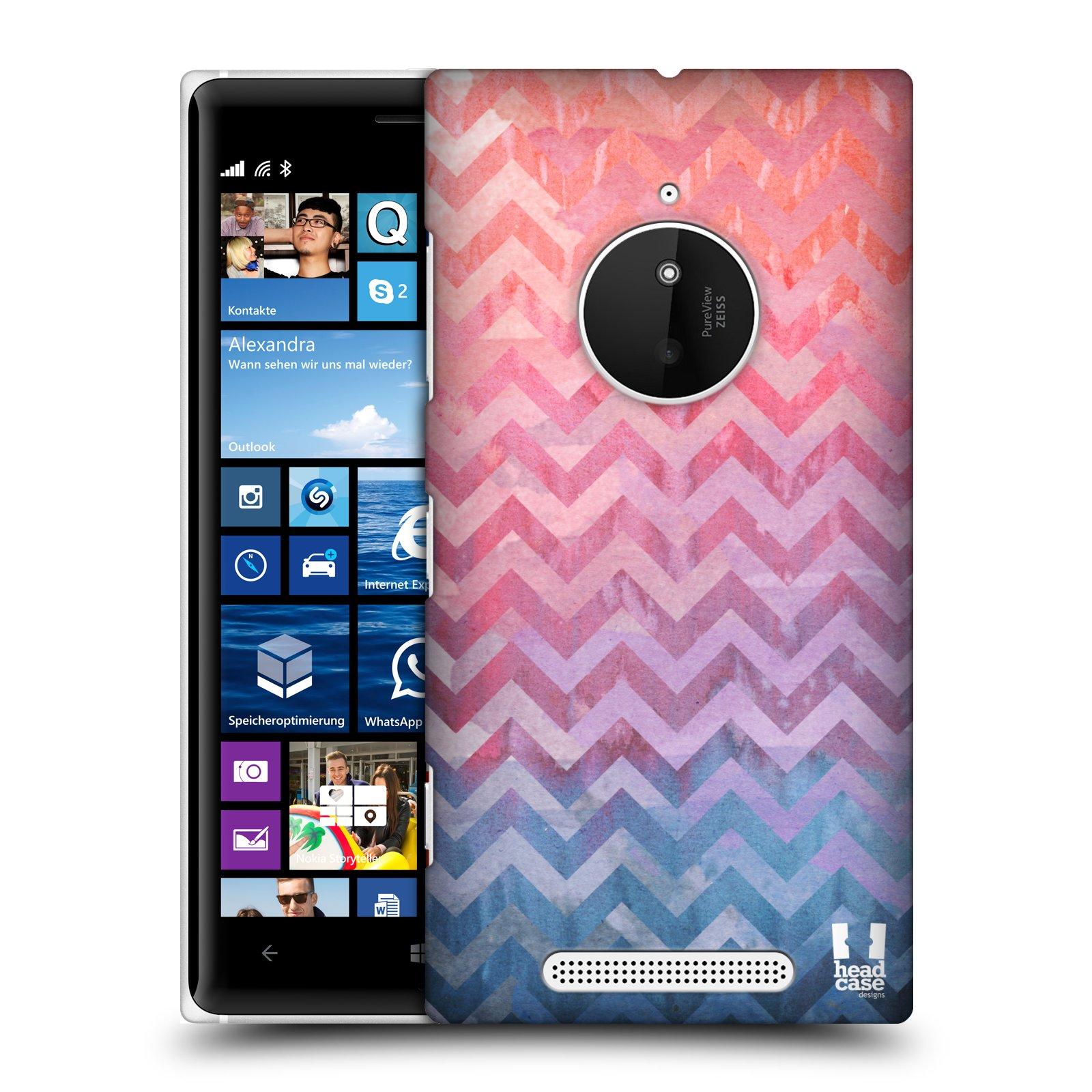 Plastové pouzdro na mobil Nokia Lumia 830 HEAD CASE Pink Chevron (Kryt či obal na mobilní telefon Nokia Lumia 830)