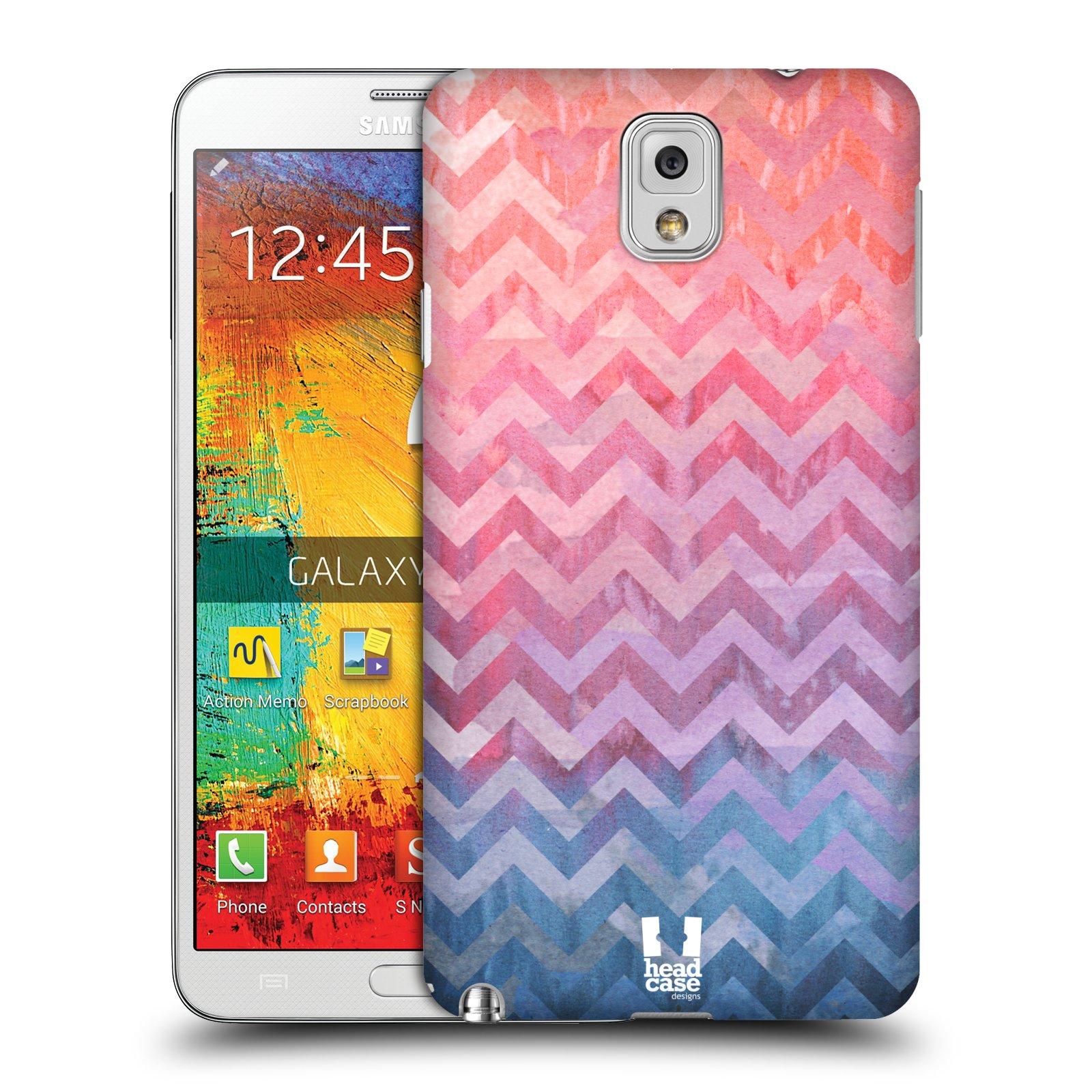 Plastové pouzdro na mobil Samsung Galaxy Note 3 HEAD CASE Pink Chevron (Kryt či obal na mobilní telefon Samsung Galaxy Note 3 SM-N9005)