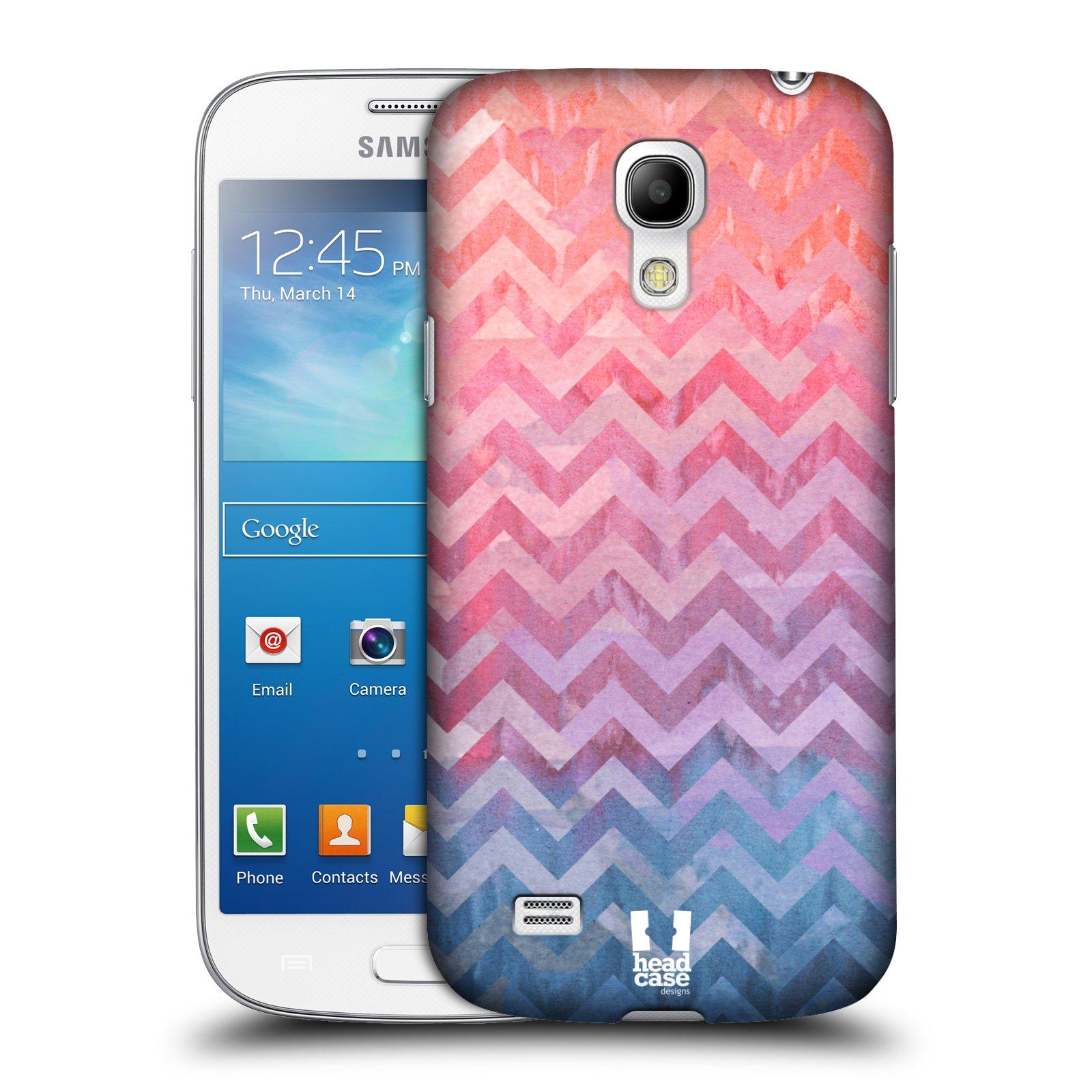 Plastové pouzdro na mobil Samsung Galaxy S4 Mini VE HEAD CASE Pink Chevron (Kryt či obal na mobilní telefon Samsung Galaxy S4 Mini VE GT-i9195i)