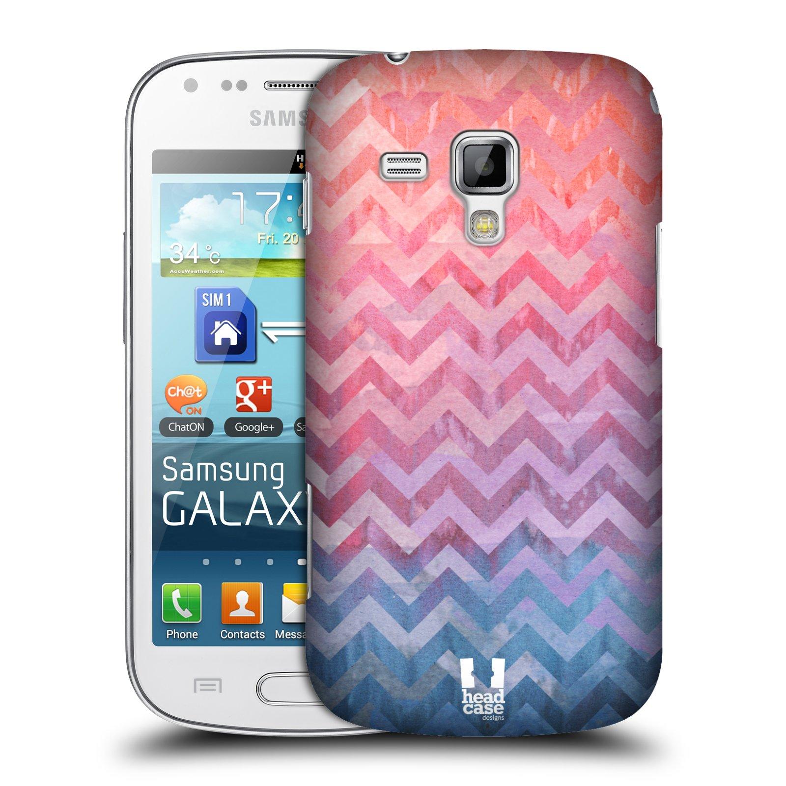 Plastové pouzdro na mobil Samsung Galaxy S Duos HEAD CASE Pink Chevron (Kryt či obal na mobilní telefon Samsung Galaxy S Duos GT-S7562)