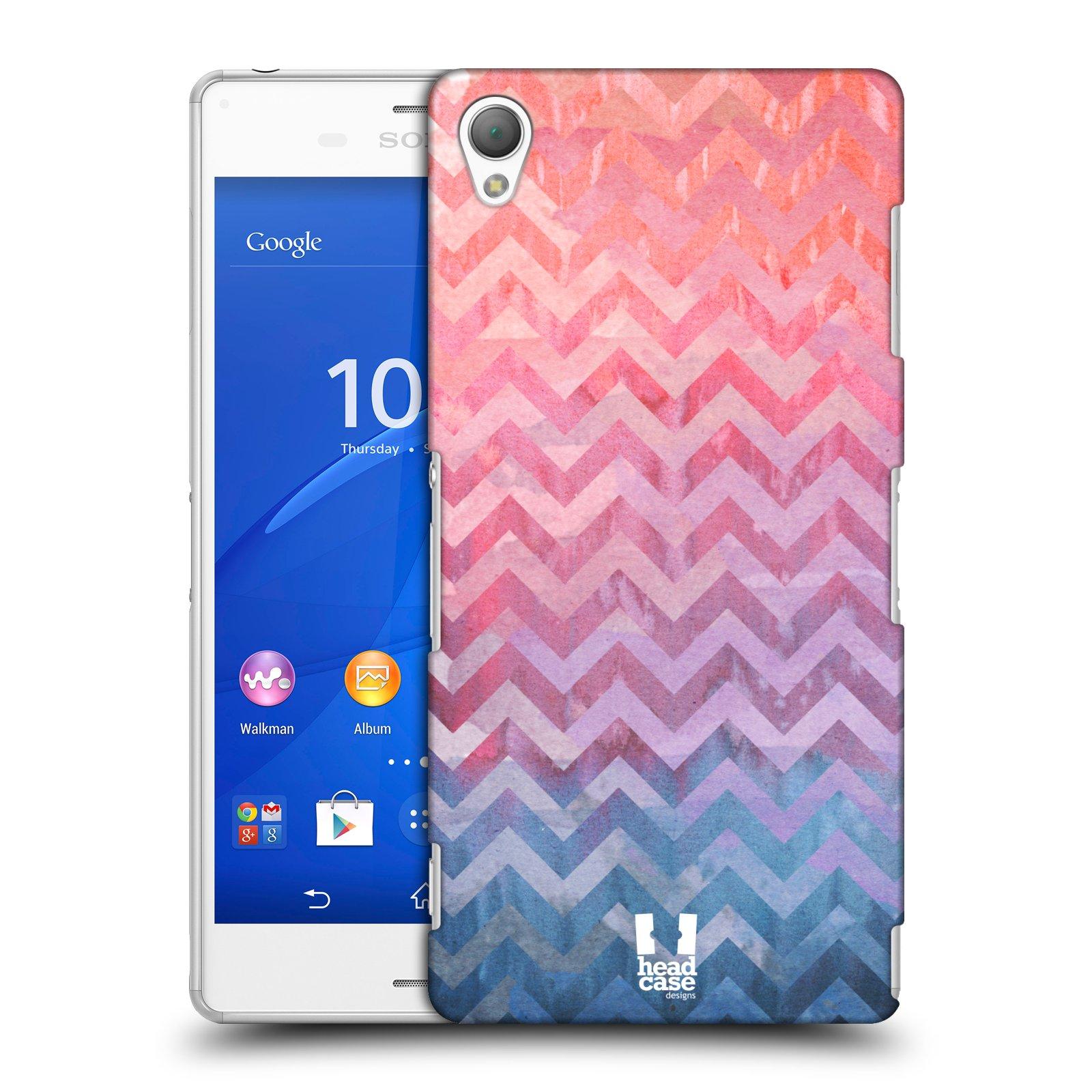 Plastové pouzdro na mobil Sony Xperia Z3 D6603 HEAD CASE Pink Chevron