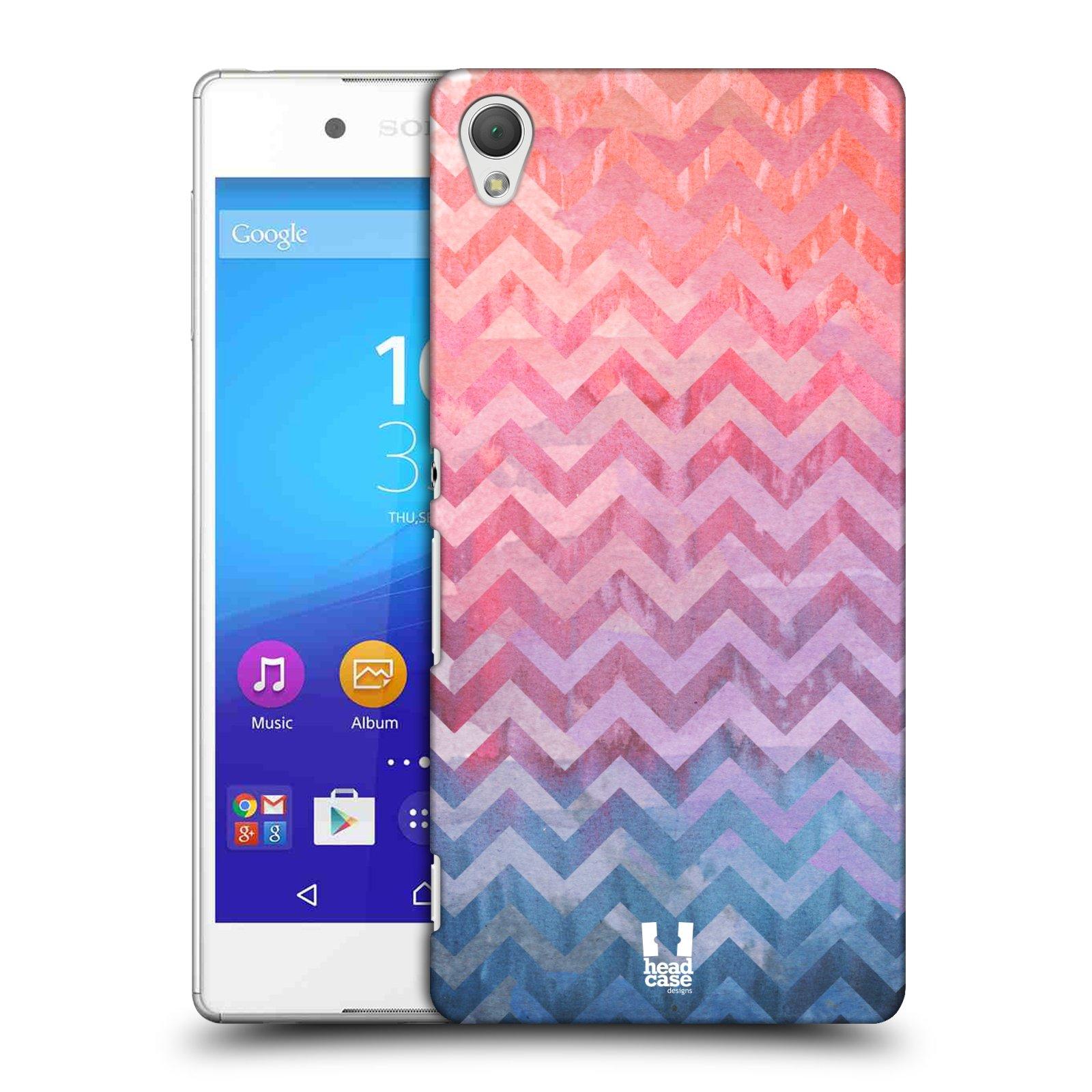 Plastové pouzdro na mobil Sony Xperia Z3+ (Plus) HEAD CASE Pink Chevron (Kryt či obal na mobilní telefon Sony Xperia Z3+ a Sony Xperia Z4 )