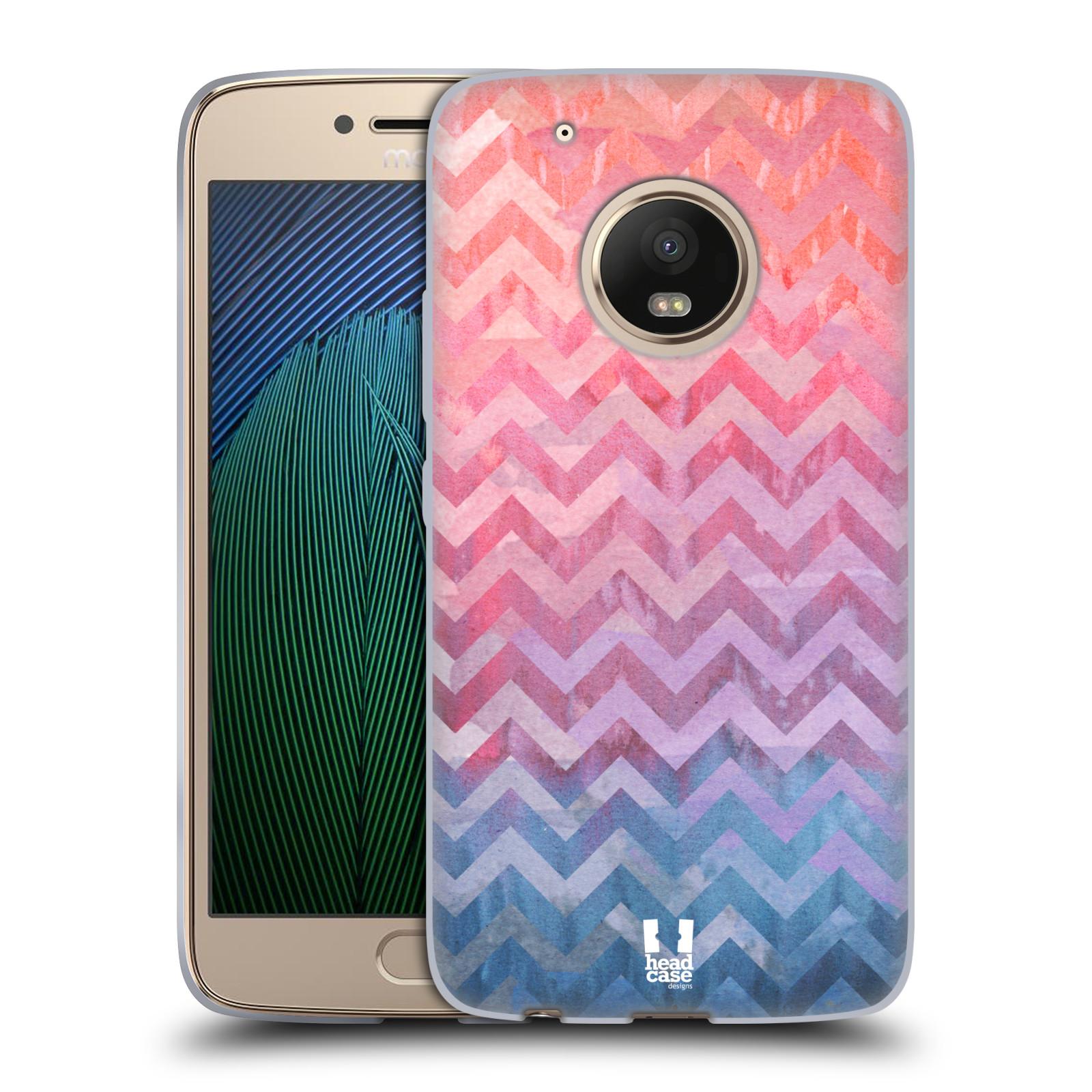 Silikonové pouzdro na mobil Lenovo Moto G5 Plus - Head Case Pink Chevron (Silikonový kryt či obal na mobilní telefon Lenovo Moto G5 Plus)