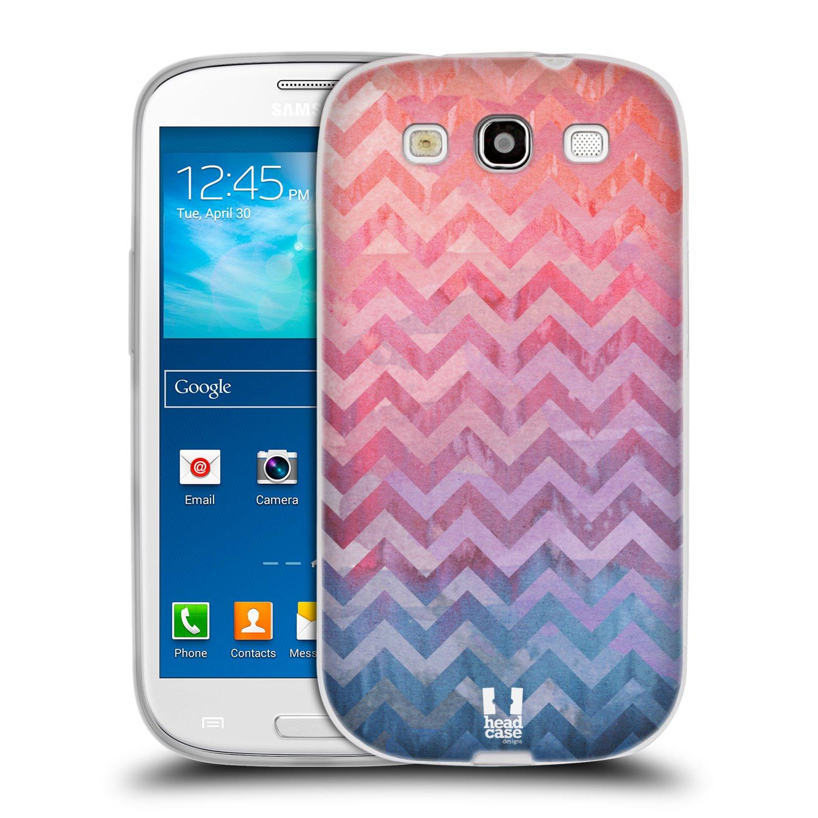 Silikonové pouzdro na mobil Samsung Galaxy S3 Neo HEAD CASE Pink Chevron (Silikonový kryt či obal na mobilní telefon Samsung Galaxy S3 Neo GT-i9301i)