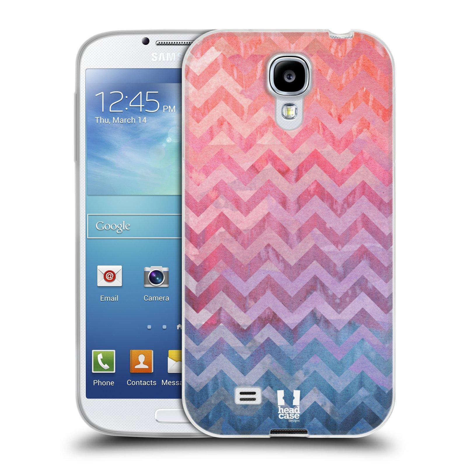 Silikonové pouzdro na mobil Samsung Galaxy S4 HEAD CASE Pink Chevron (Silikonový kryt či obal na mobilní telefon Samsung Galaxy S4 GT-i9505 / i9500)