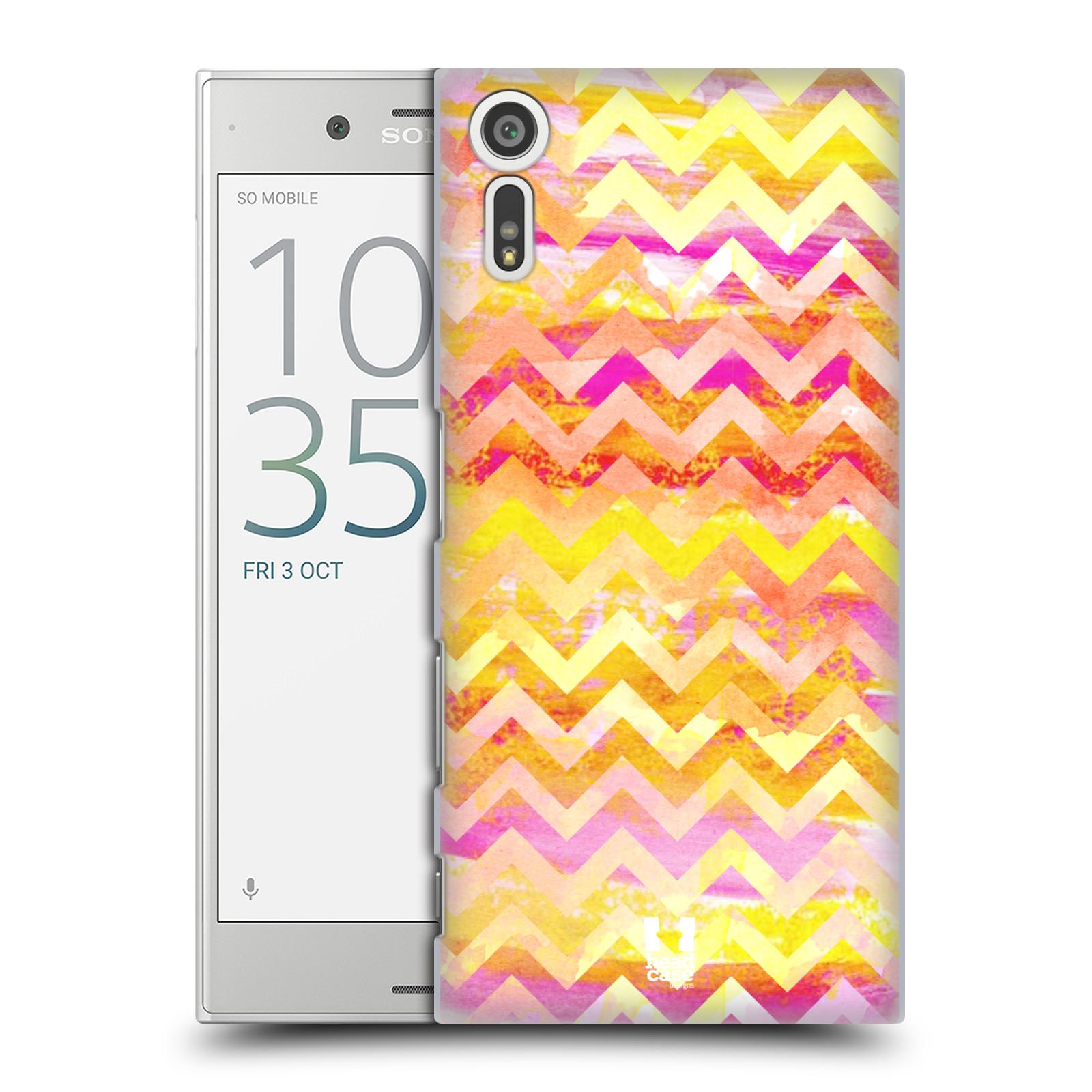 Plastové pouzdro na mobil Sony Xperia XZ - Head Case Yellow Chevron (Plastový kryt či obal na mobilní telefon Sony Xperia XZ F8331 / Sony Xperia XZ Dual F8332)