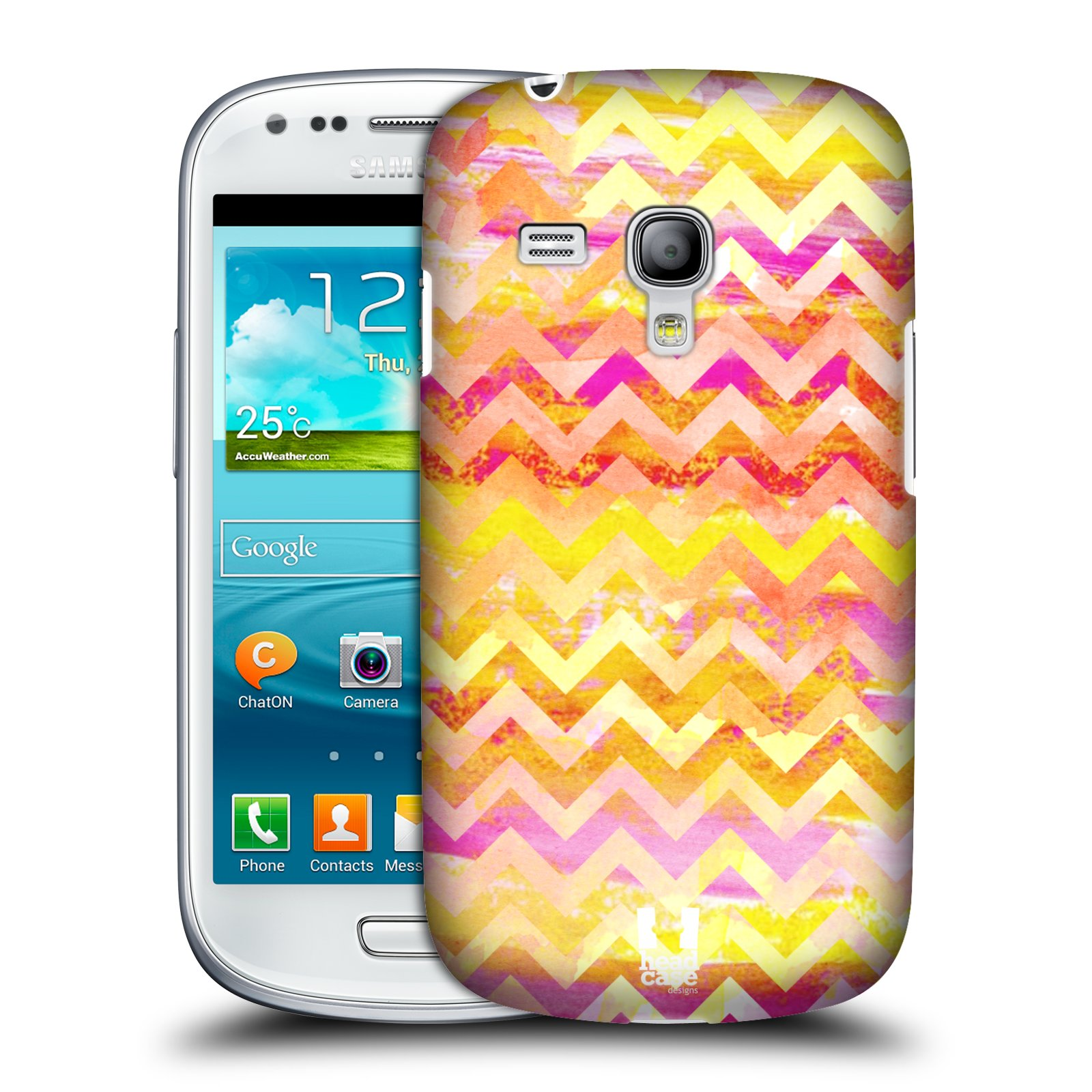 Plastové pouzdro na mobil Samsung Galaxy S III Mini HEAD CASE Yellow Chevron (Kryt či obal na mobilní telefon Samsung Galaxy S III Mini GT-i8190)