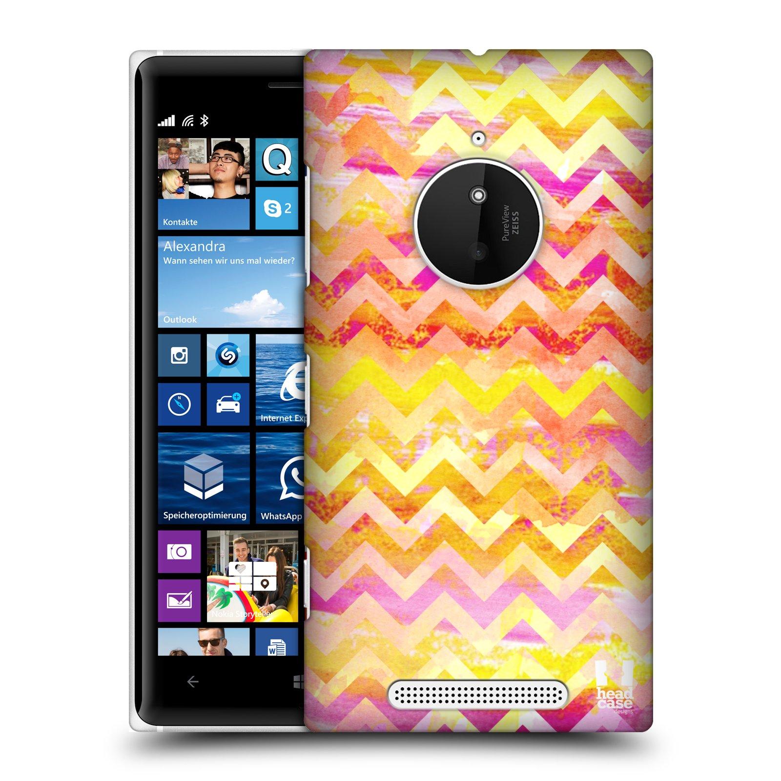Plastové pouzdro na mobil Nokia Lumia 830 HEAD CASE Yellow Chevron (Kryt či obal na mobilní telefon Nokia Lumia 830)