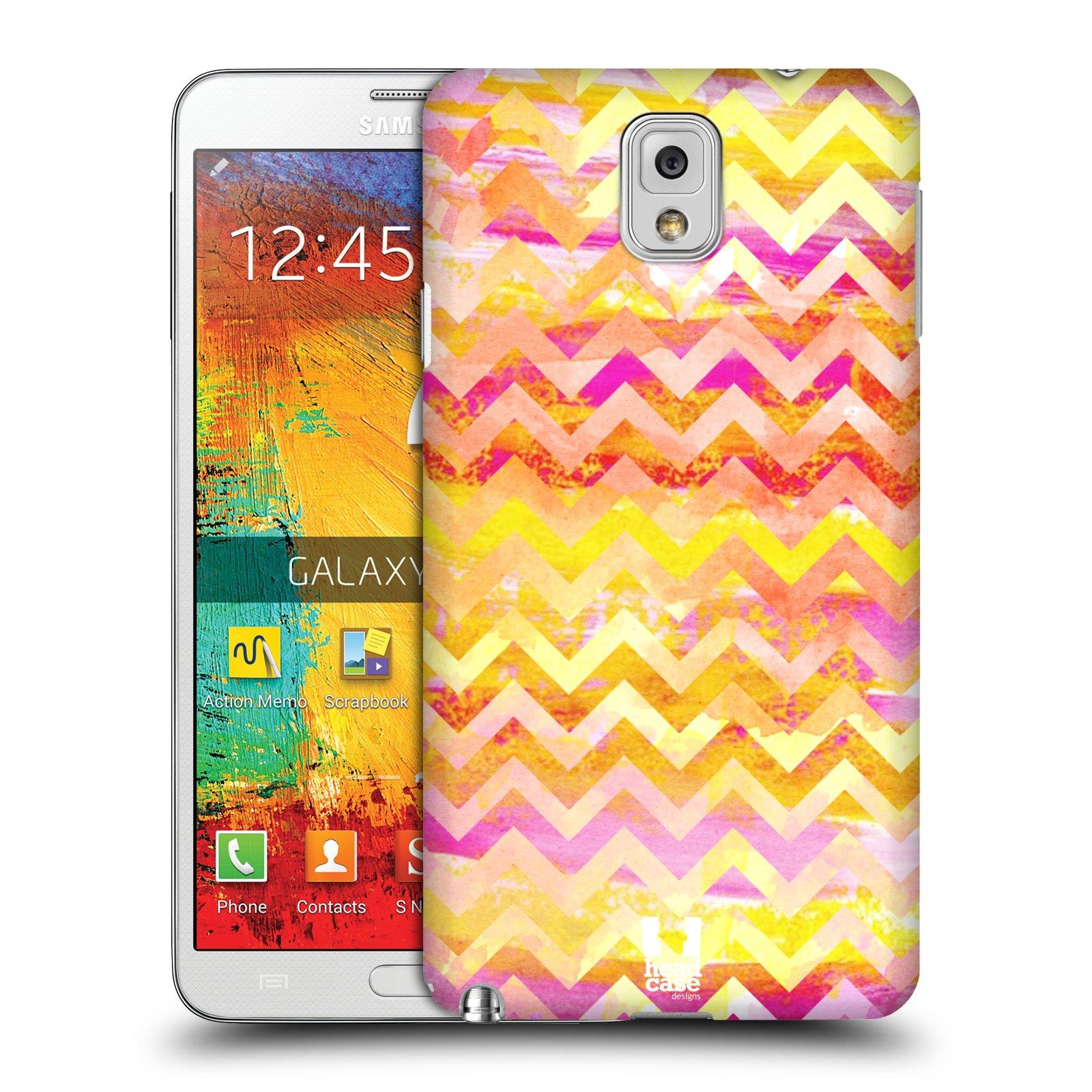 Plastové pouzdro na mobil Samsung Galaxy Note 3 HEAD CASE Yellow Chevron (Kryt či obal na mobilní telefon Samsung Galaxy Note 3 SM-N9005)