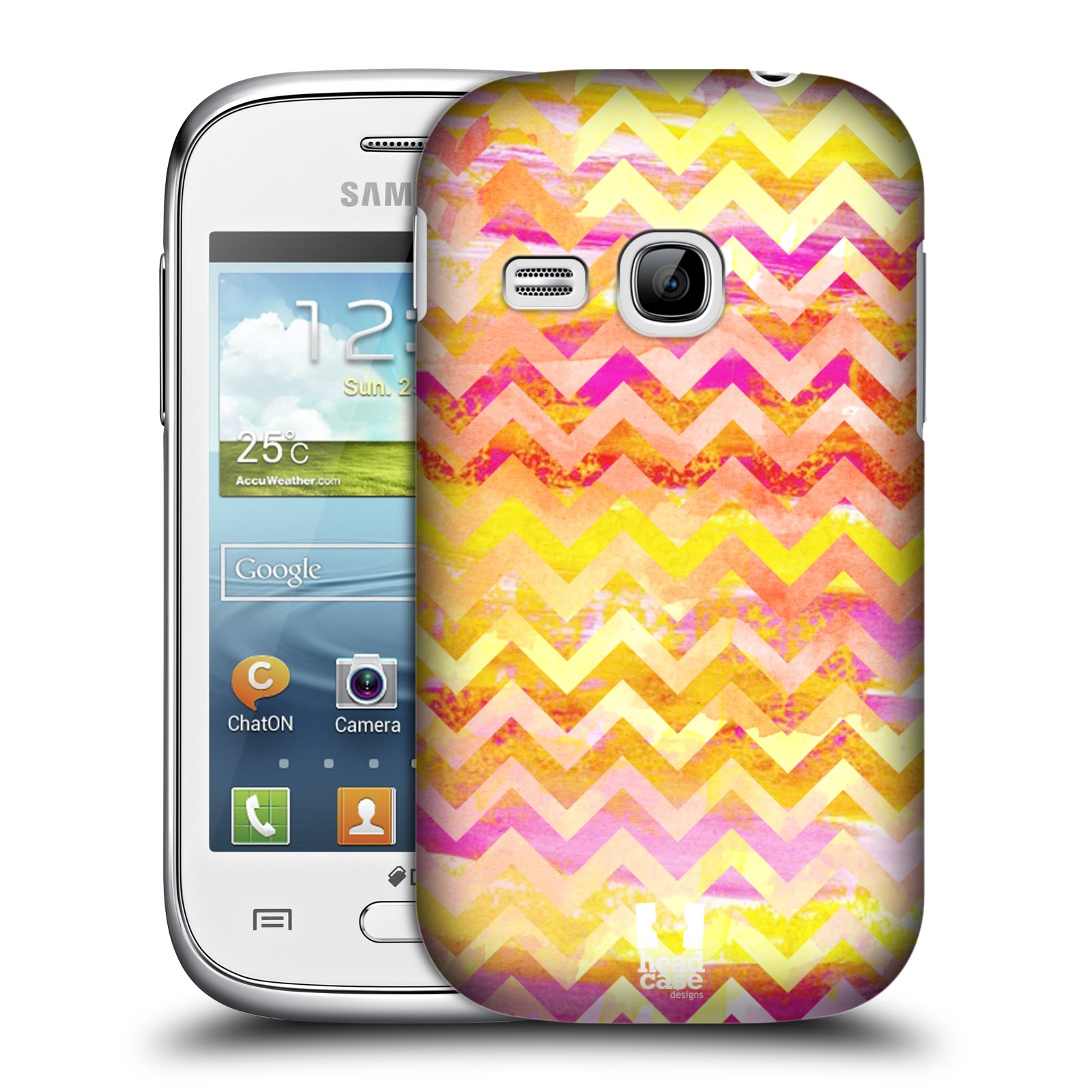 Plastové pouzdro na mobil Samsung Galaxy Young HEAD CASE Yellow Chevron (Kryt či obal na mobilní telefon Samsung Galaxy Young GT-S6310)