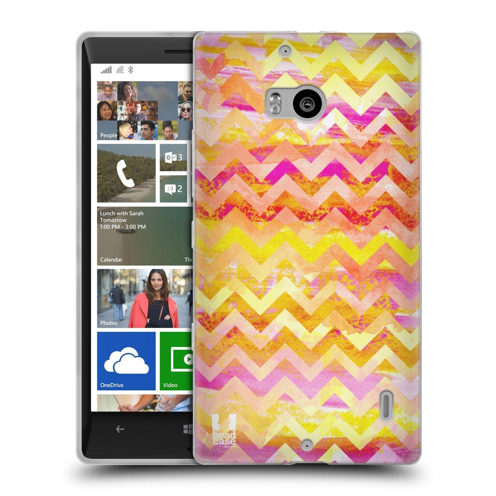 Silikonové pouzdro na mobil Nokia Lumia 930 HEAD CASE Yellow Chevron (Silikonový kryt či obal na mobilní telefon Nokia Lumia 930)