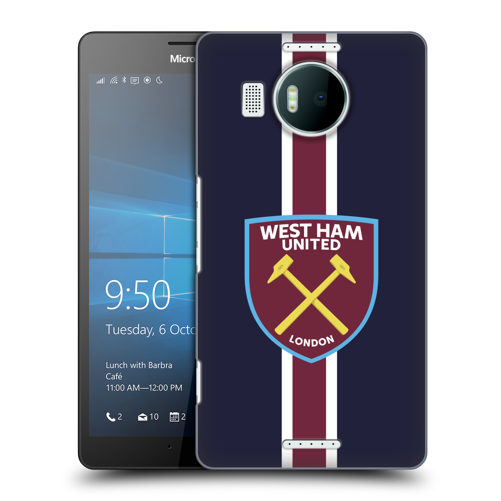 Plastové pouzdro na mobil Microsoft Lumia 950 XL - Head Case - West Ham United - Pruhy