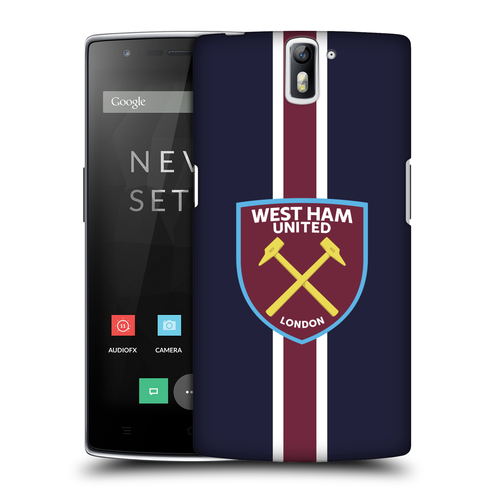 Plastové pouzdro na mobil OnePlus One - Head Case - West Ham United - Pruhy