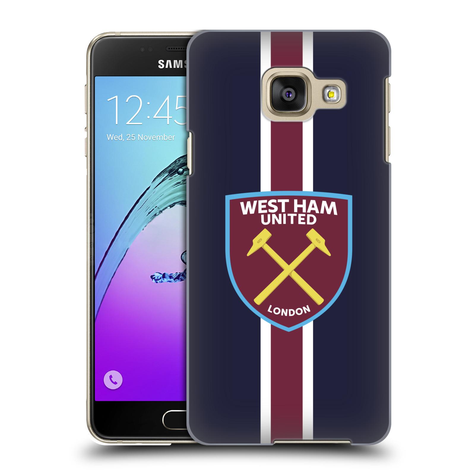 Plastové pouzdro na mobil Samsung Galaxy A3 (2016) - Head Case - West Ham United - Pruhy