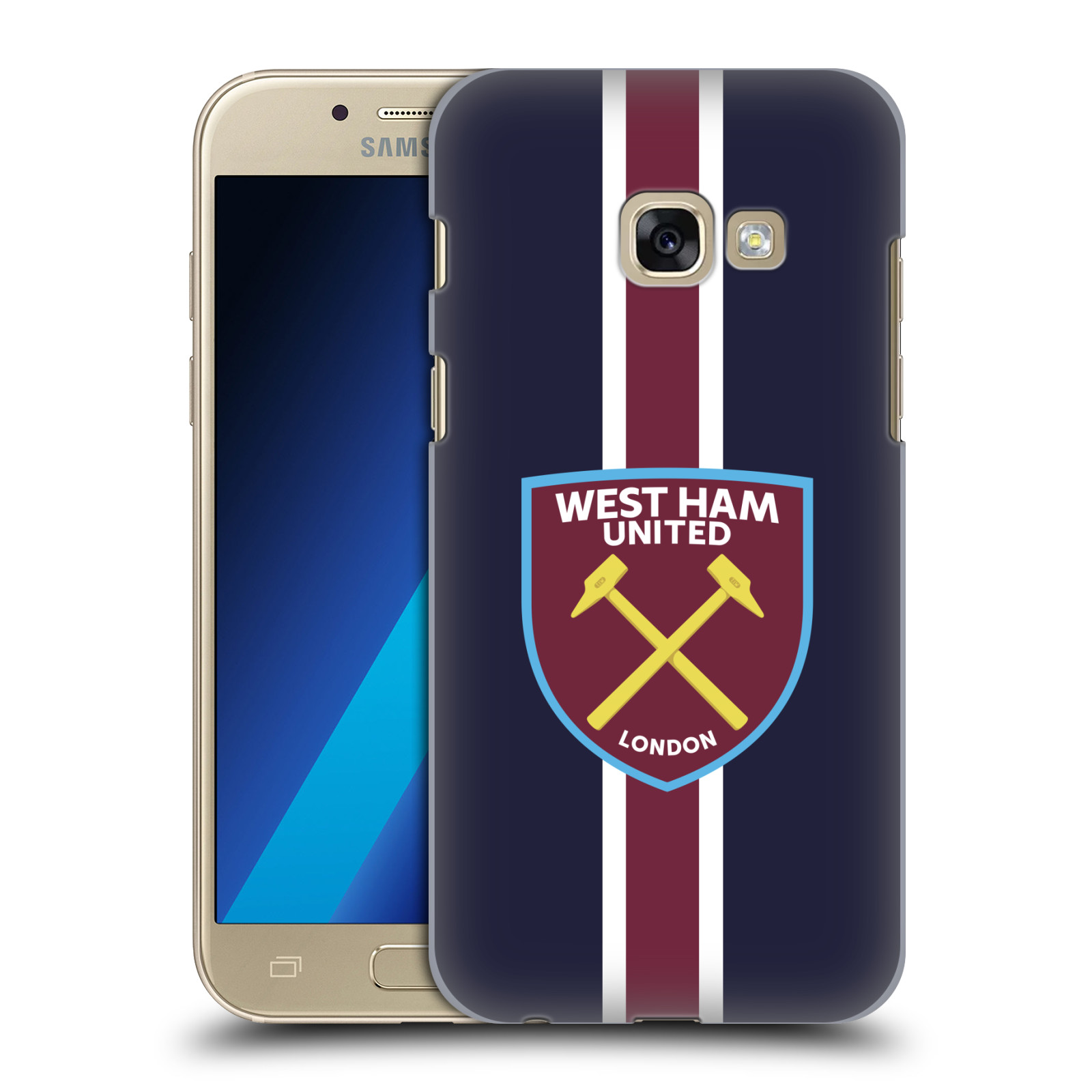Plastové pouzdro na mobil Samsung Galaxy A3 (2017) - Head Case - West Ham United - Pruhy