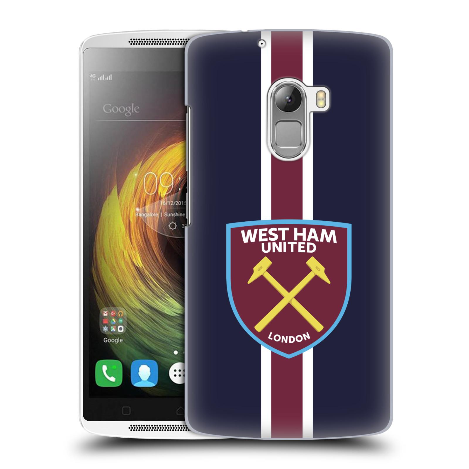 Plastové pouzdro na mobil Lenovo A7010 - Head Case - West Ham United - Pruhy