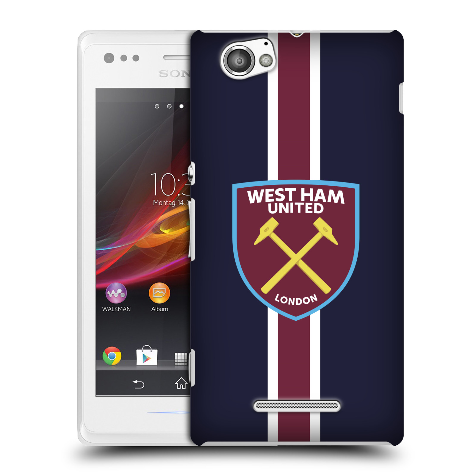 Plastové pouzdro na mobil Sony Xperia M C1905 - Head Case - West Ham United - Pruhy