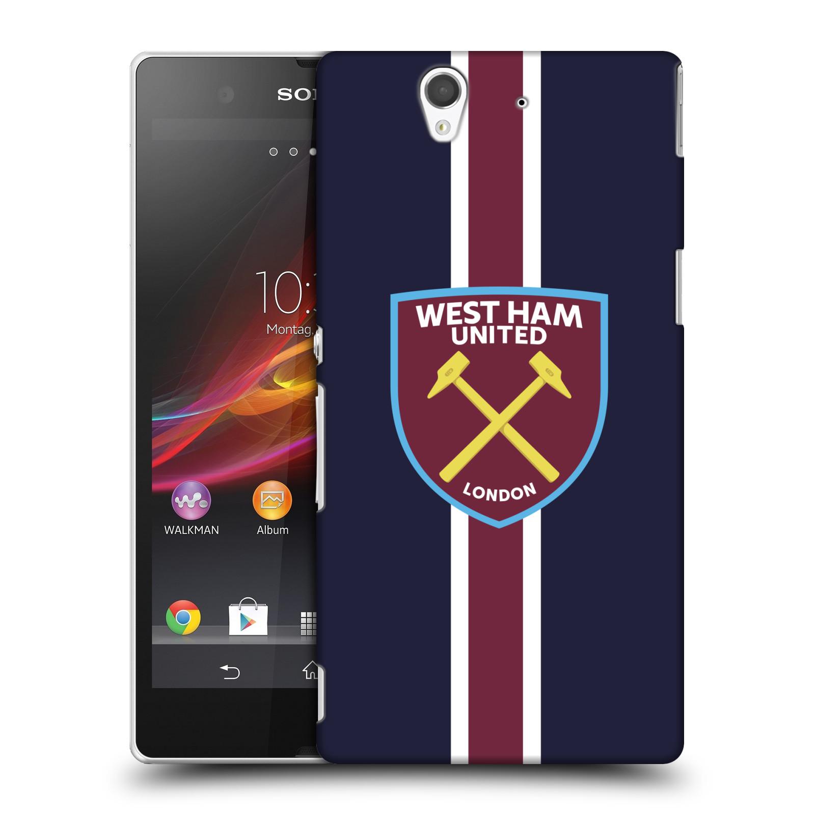 Plastové pouzdro na mobil Sony Xperia Z C6603 - Head Case - West Ham United - Pruhy