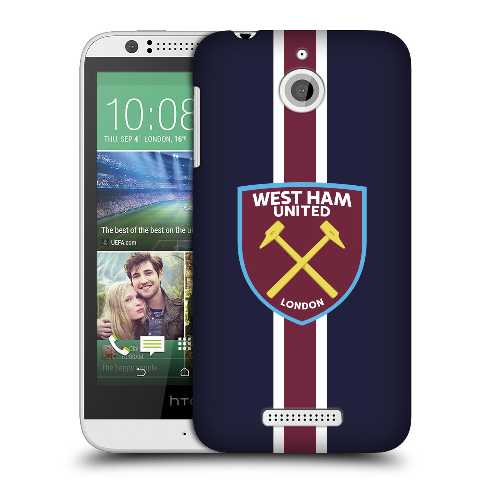 Plastové pouzdro na mobil HTC Desire 510 - Head Case - West Ham United - Pruhy