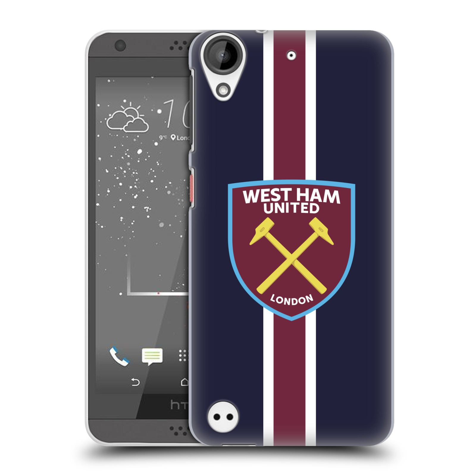 Plastové pouzdro na mobil HTC Desire 530 - Head Case - West Ham United - Pruhy