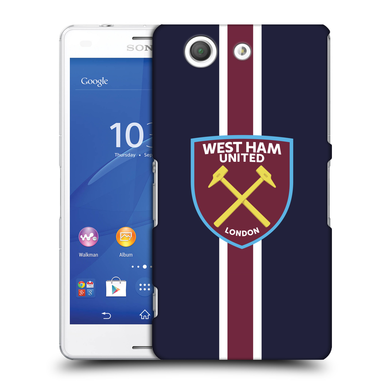 Plastové pouzdro na mobil Sony Xperia Z3 Compact D5803 - Head Case - West Ham United - Pruhy