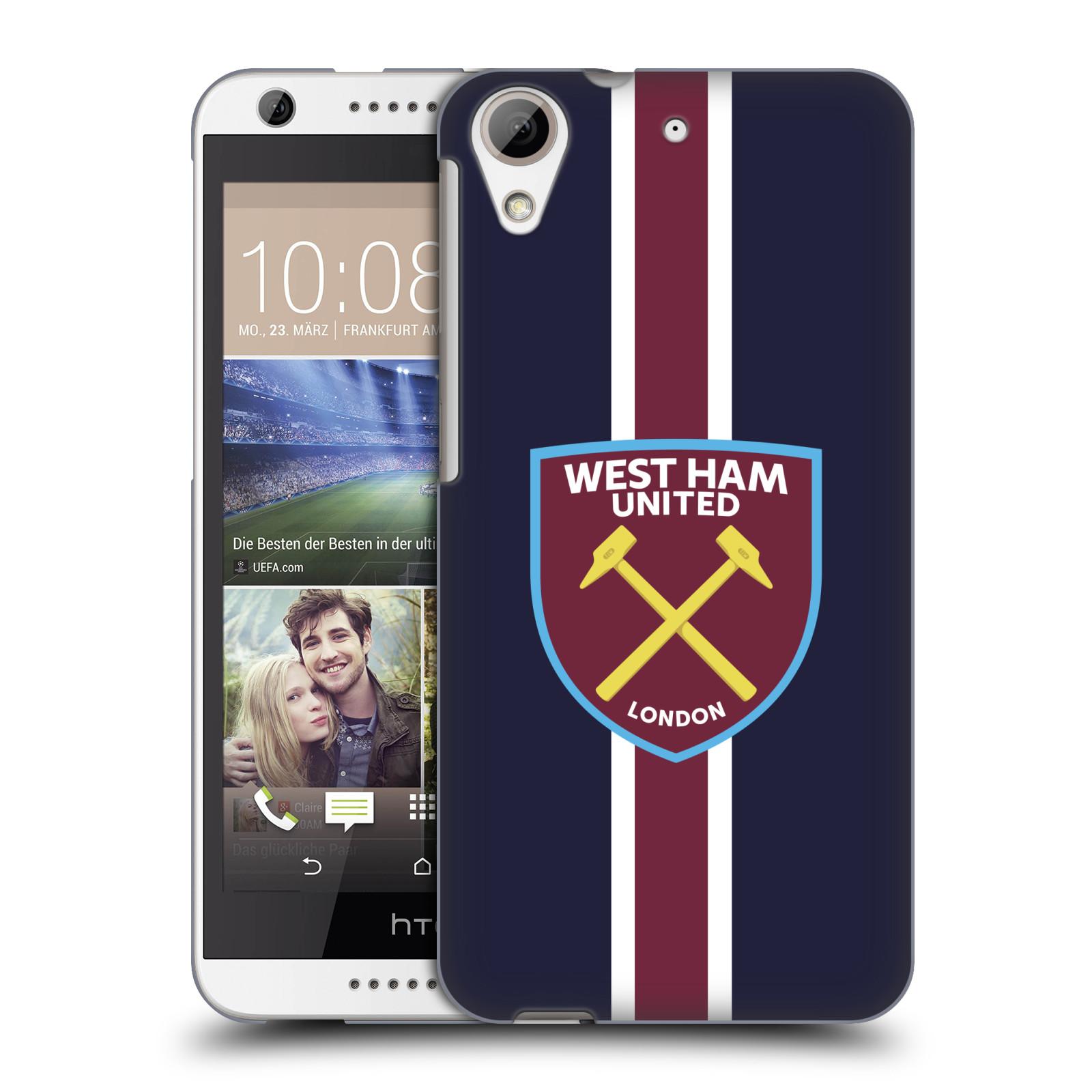 Plastové pouzdro na mobil HTC Desire 626 / 626G - Head Case - West Ham United - Pruhy