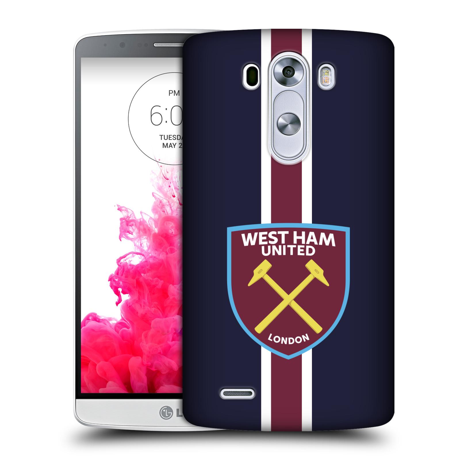 Plastové pouzdro na mobil LG G3 - Head Case - West Ham United - Pruhy