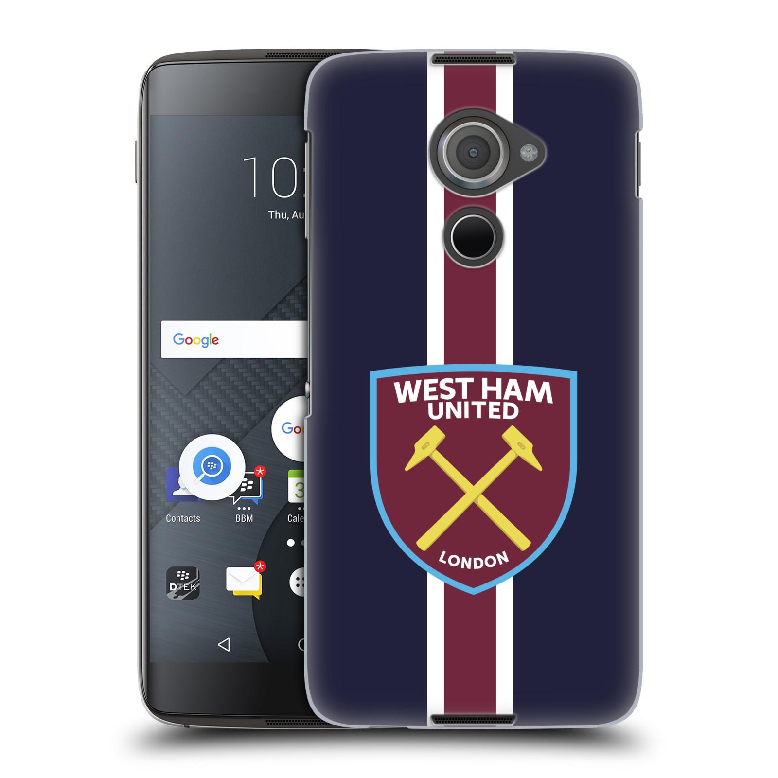 Plastové pouzdro na mobil Blackberry DTEK60 (Argon) - Head Case - West Ham United - Pruhy