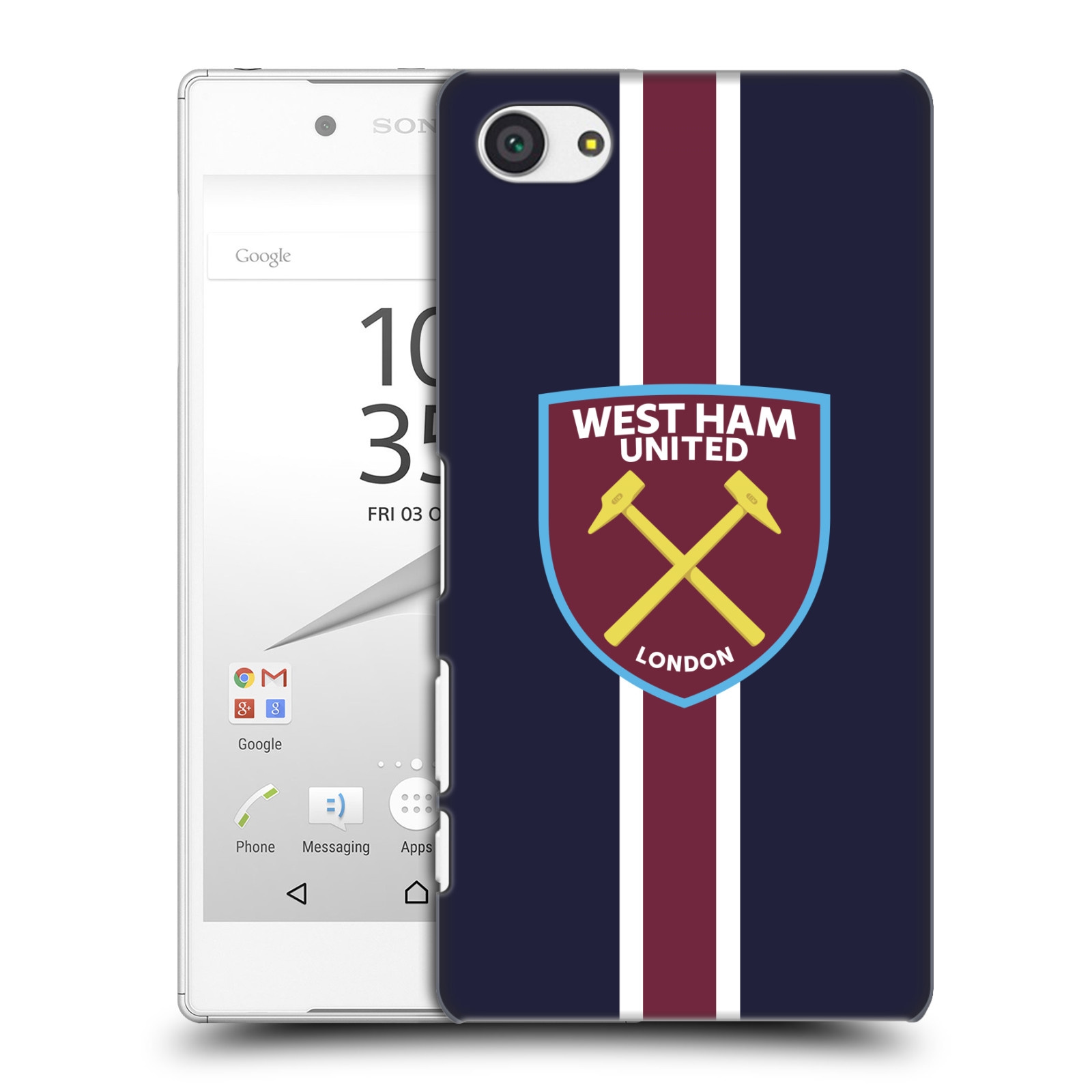 Plastové pouzdro na mobil Sony Xperia Z5 Compact - Head Case - West Ham United - Pruhy