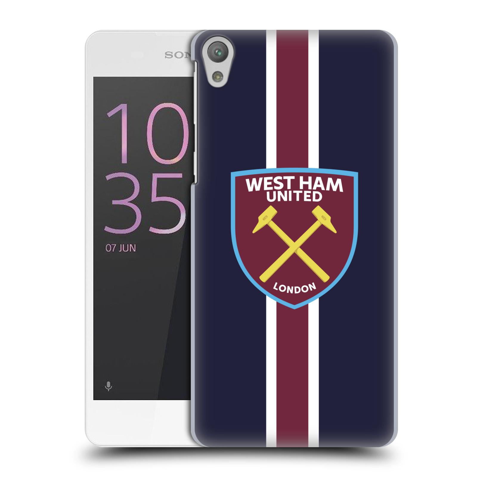 Plastové pouzdro na mobil Sony Xperia E5 - Head Case - West Ham United - Pruhy