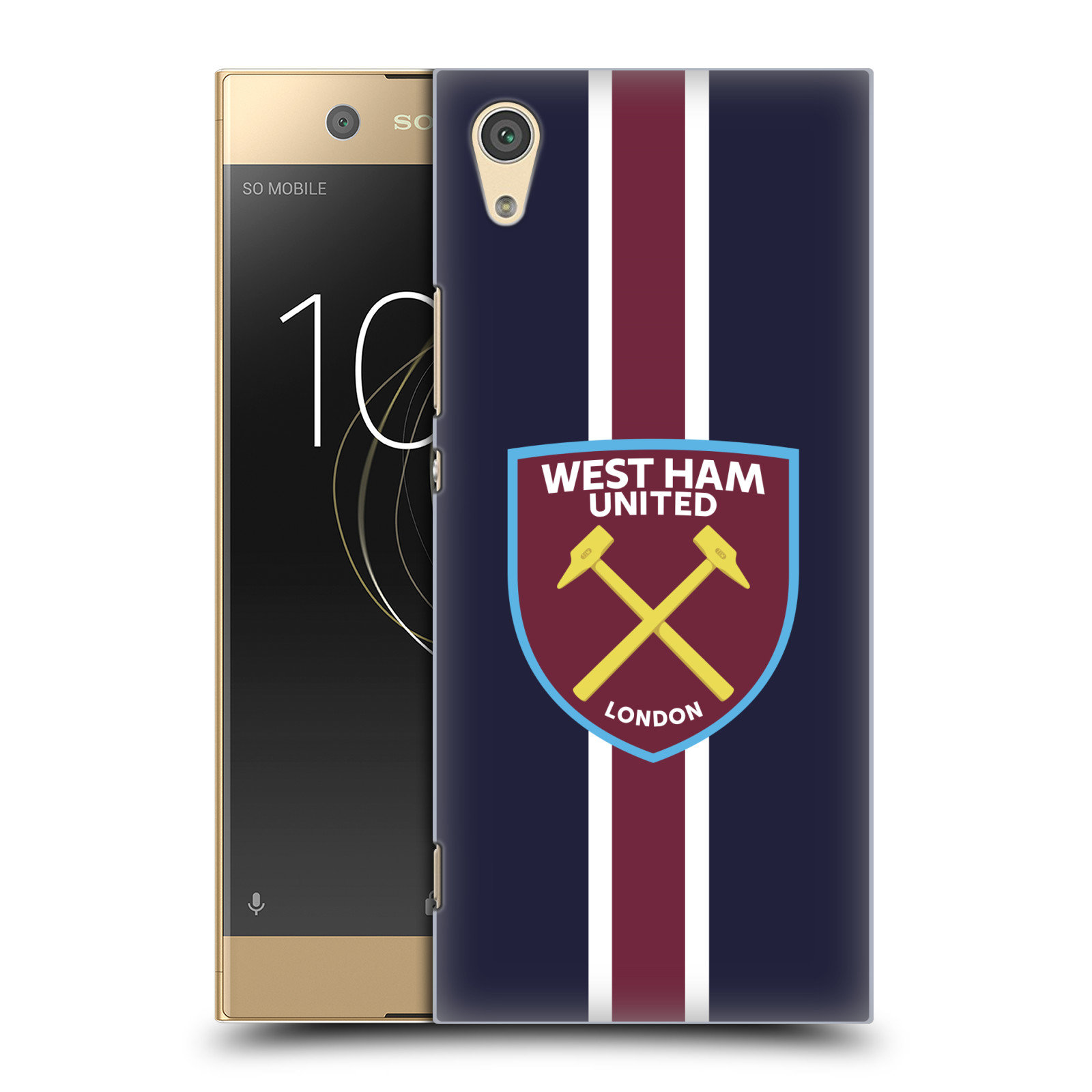 Plastové pouzdro na mobil Sony Xperia XA1 - Head Case - West Ham United - Pruhy