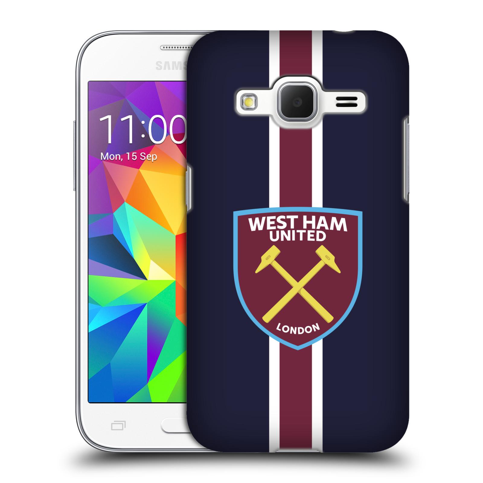 Plastové pouzdro na mobil Samsung Galaxy Core Prime VE - Head Case - West Ham United - Pruhy
