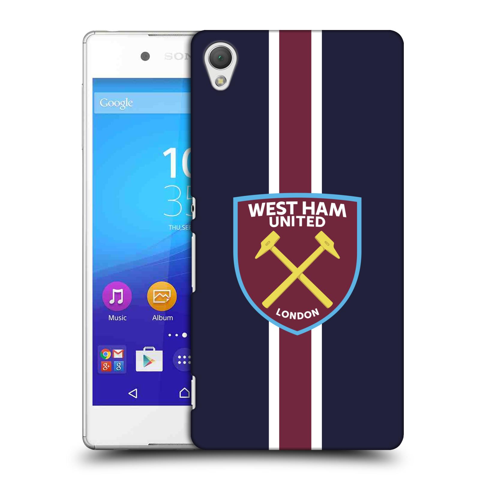 Plastové pouzdro na mobil Sony Xperia Z3+ (Plus) - Head Case - West Ham United - Pruhy (Plastový kryt či obal na mobilní telefon s motivem West Ham United - Kladiváři - Pruhy pro Sony Xperia Z3+ a Sony Xperia Z4 )