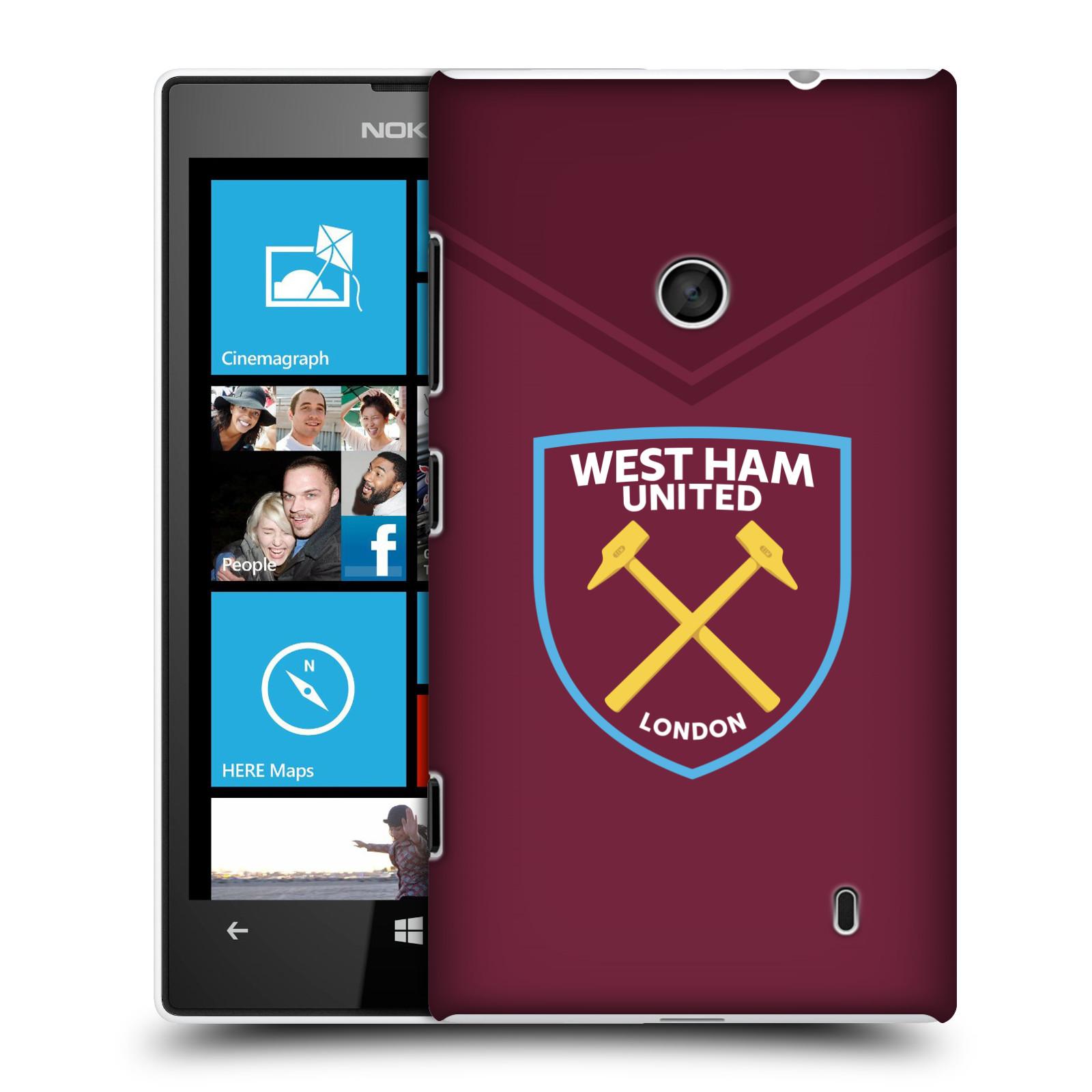 Plastové pouzdro na mobil Nokia Lumia 520 - Head Case - West Ham United - Logo