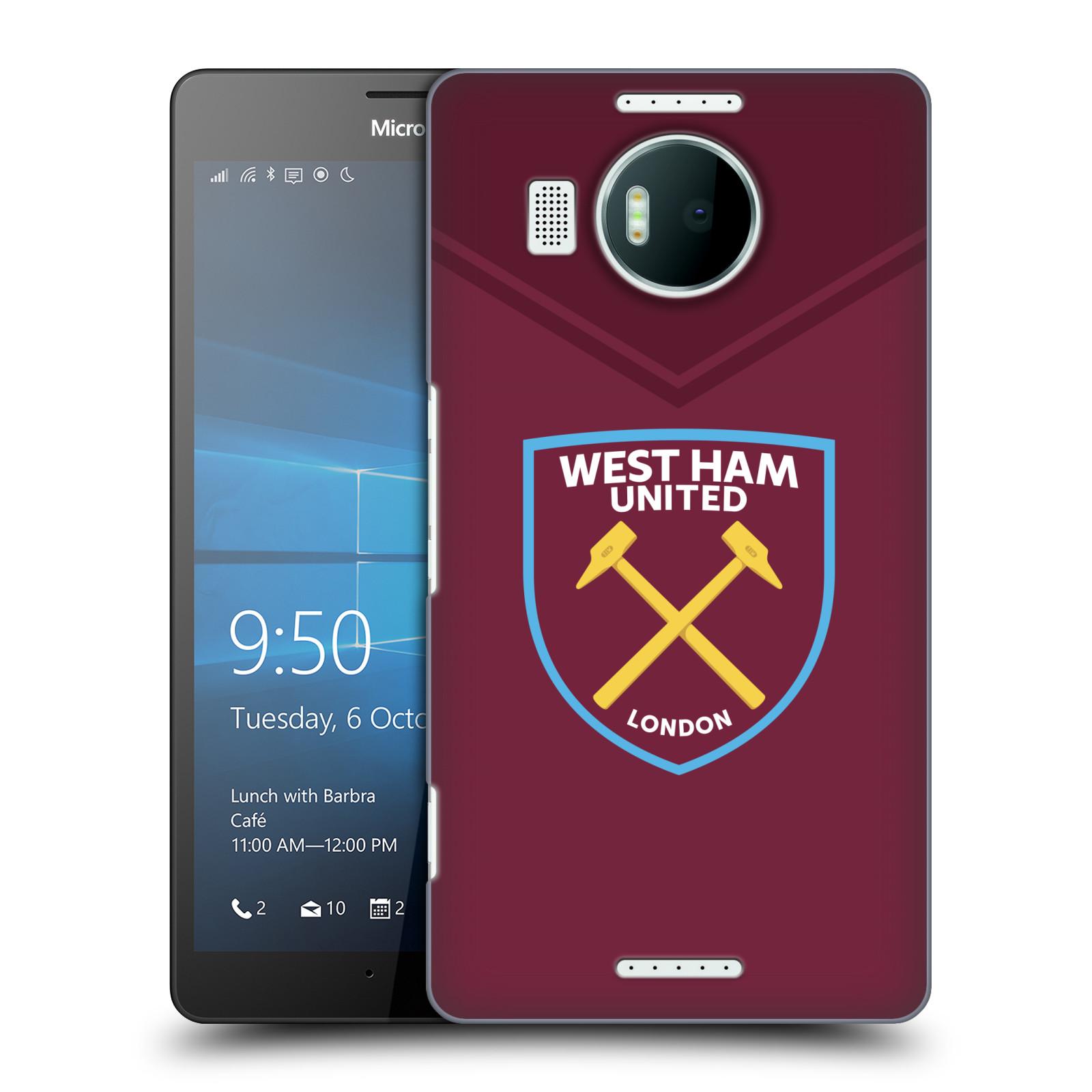 Plastové pouzdro na mobil Microsoft Lumia 950 XL - Head Case - West Ham United - Logo