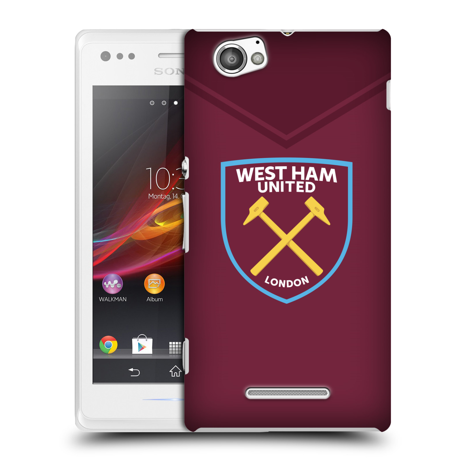 Plastové pouzdro na mobil Sony Xperia M C1905 - Head Case - West Ham United - Logo