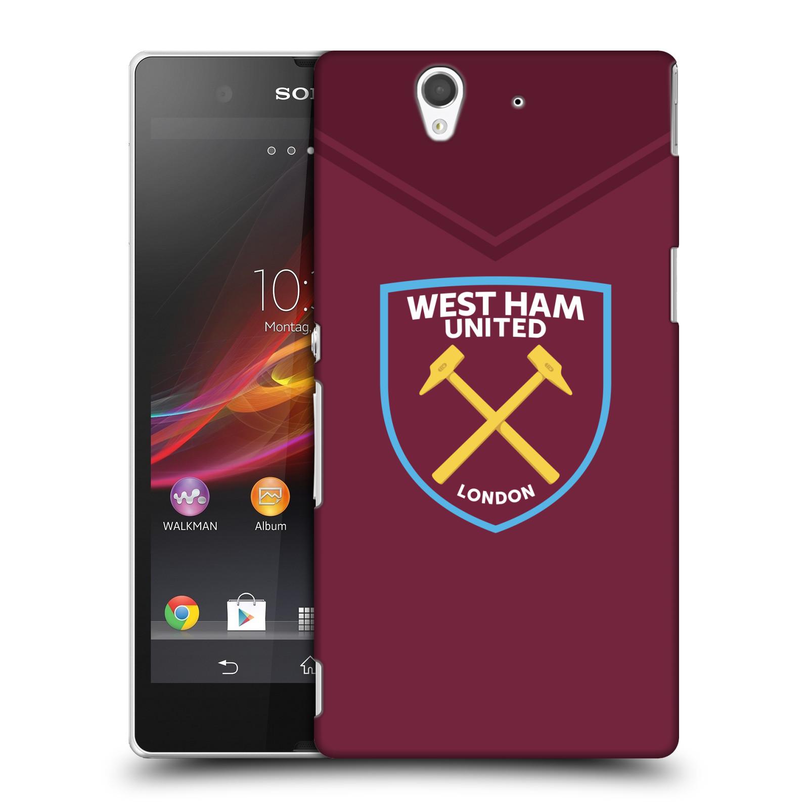 Plastové pouzdro na mobil Sony Xperia Z C6603 - Head Case - West Ham United - Logo