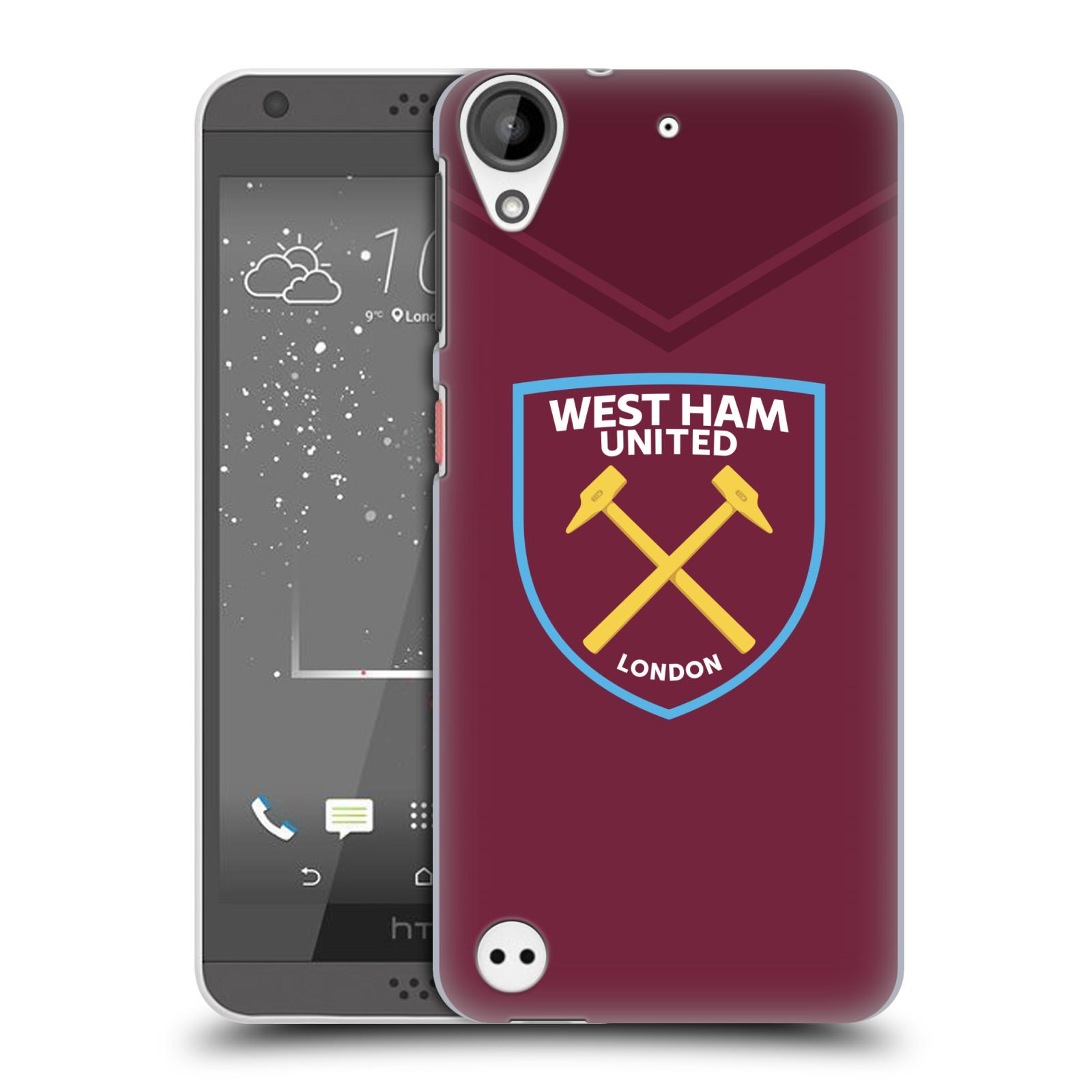 Plastové pouzdro na mobil HTC Desire 530 - Head Case - West Ham United - Logo