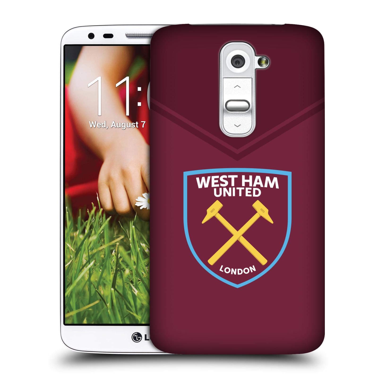 Plastové pouzdro na mobil LG G2 - Head Case - West Ham United - Logo