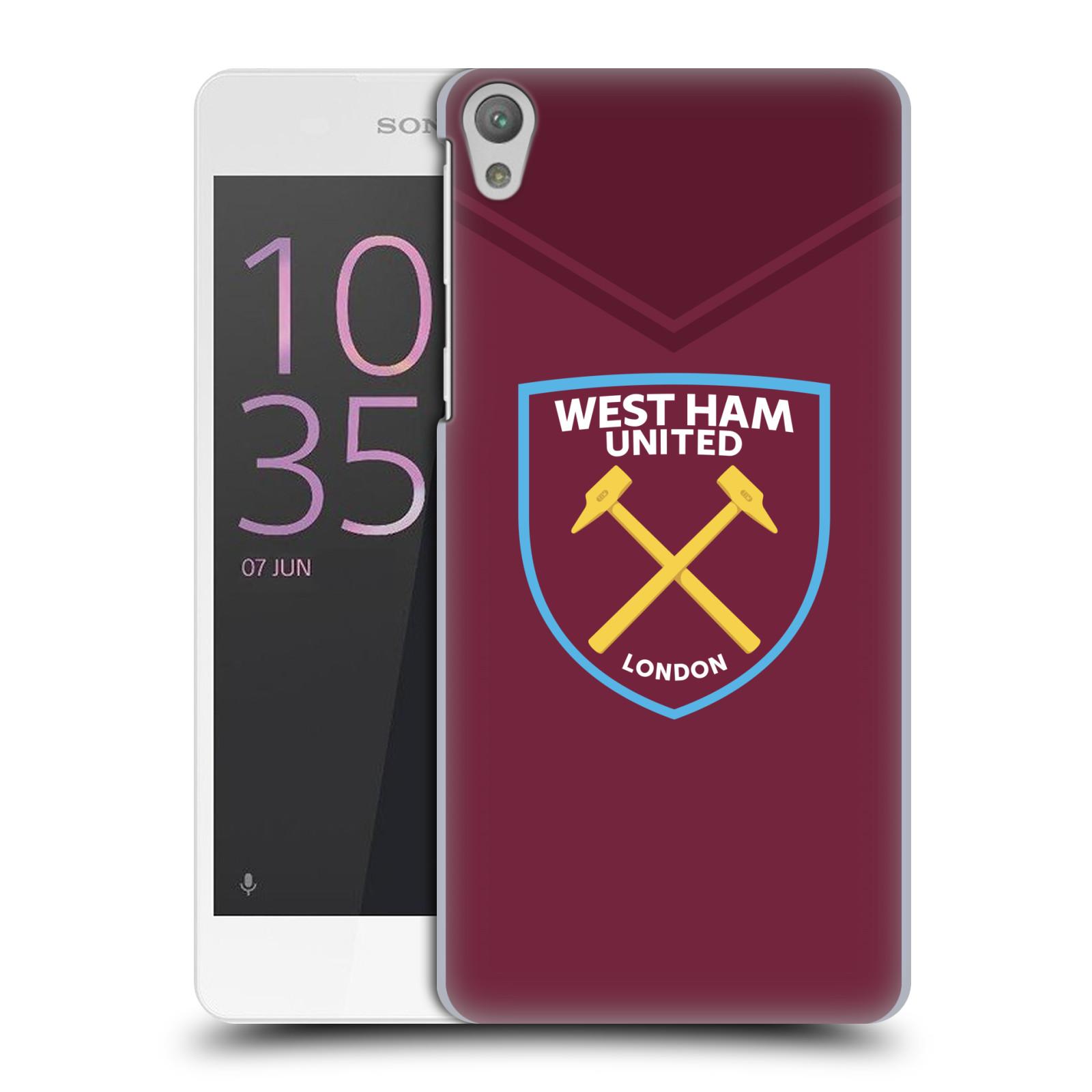 Plastové pouzdro na mobil Sony Xperia E5 - Head Case - West Ham United - Logo