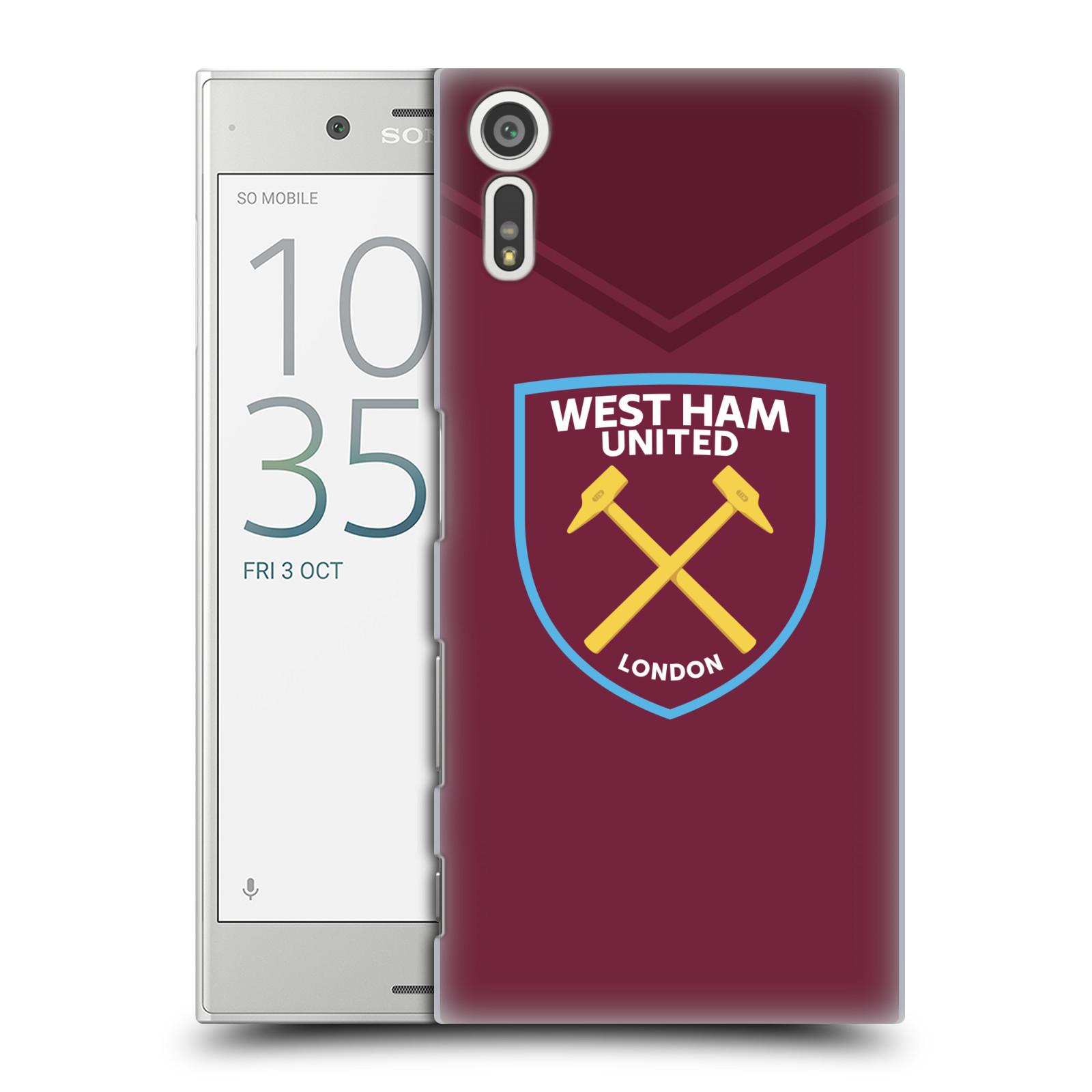 Plastové pouzdro na mobil Sony Xperia XZ - Head Case - West Ham United - Logo (Plastový kryt či obal na mobilní telefon s motivem West Ham United - Kladiváři - Logo pro Sony Xperia XZ F8331 / Sony Xperia XZ Dual F8332)