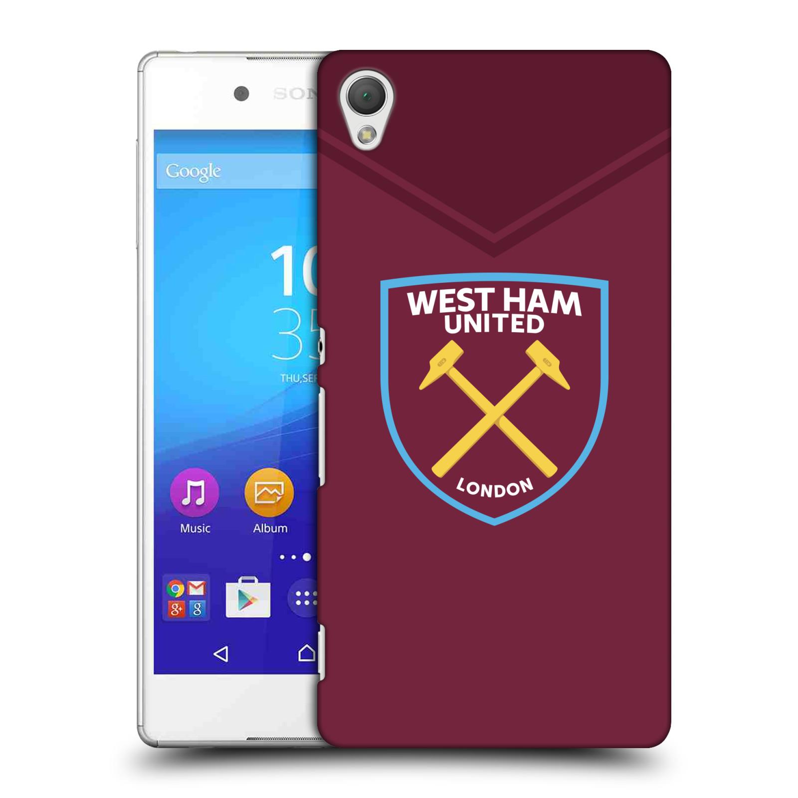 Plastové pouzdro na mobil Sony Xperia Z3+ (Plus) - Head Case - West Ham United - Logo (Plastový kryt či obal na mobilní telefon s motivem West Ham United - Kladiváři - Logo pro Sony Xperia Z3+ a Sony Xperia Z4 )