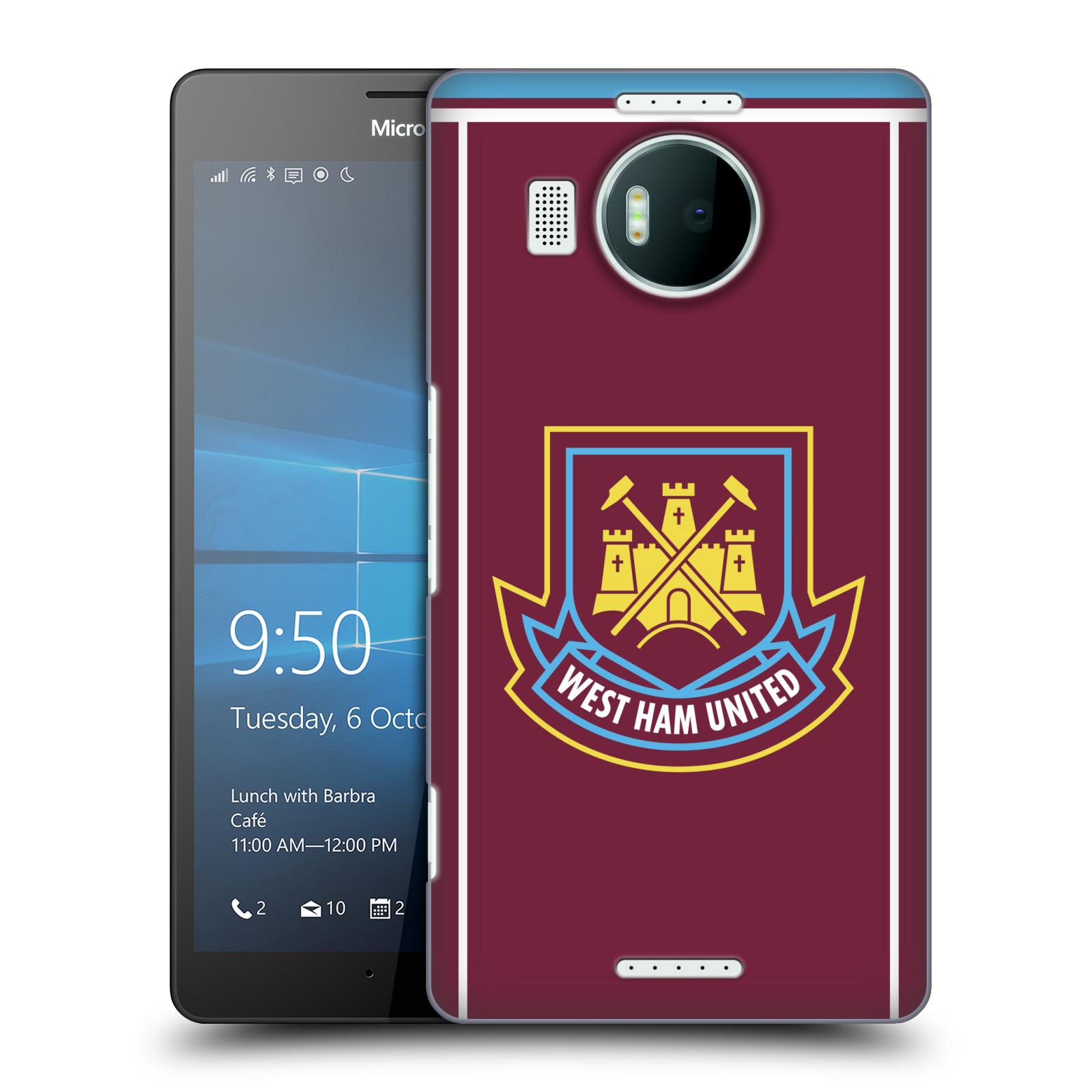 Plastové pouzdro na mobil Microsoft Lumia 950 XL - Head Case - West Ham United - Retro znak